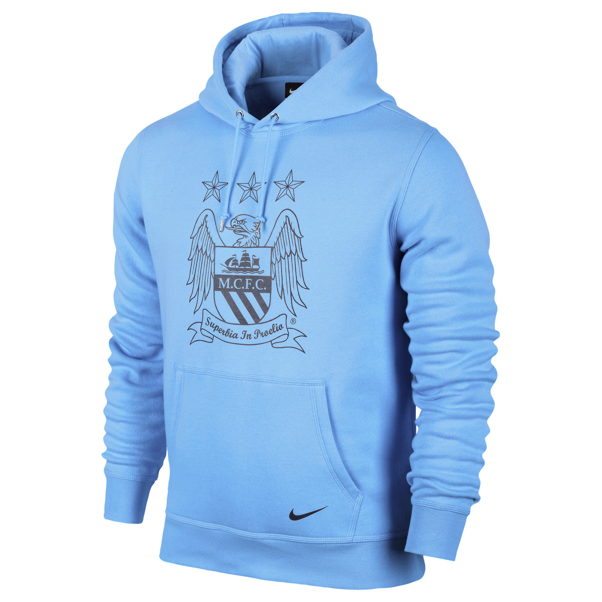 Manchester City Core Hoody - Mens Blue