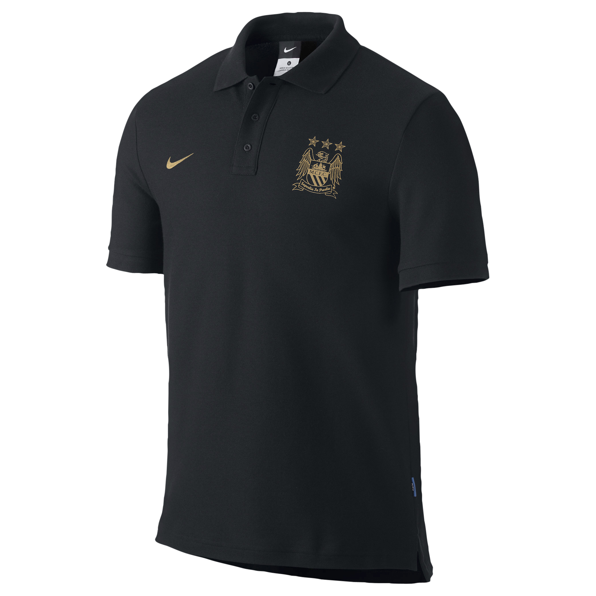 Manchester City Core Polo - Mens Blue
