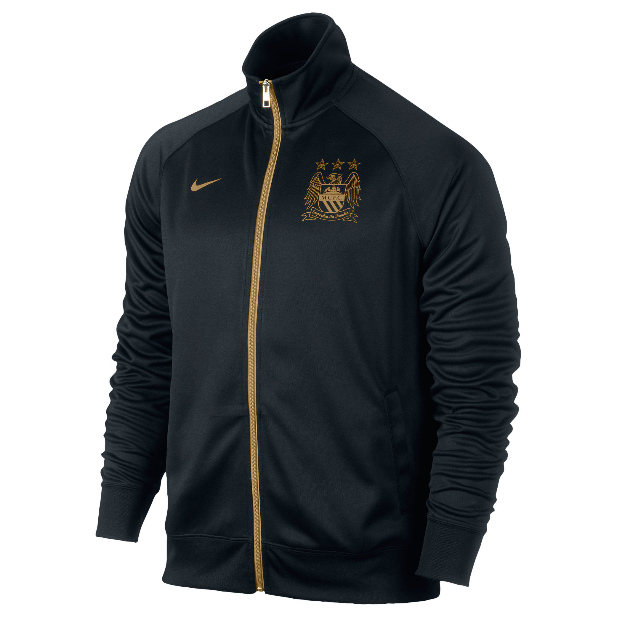 Manchester City Core Trainer Jacket - Mens Black