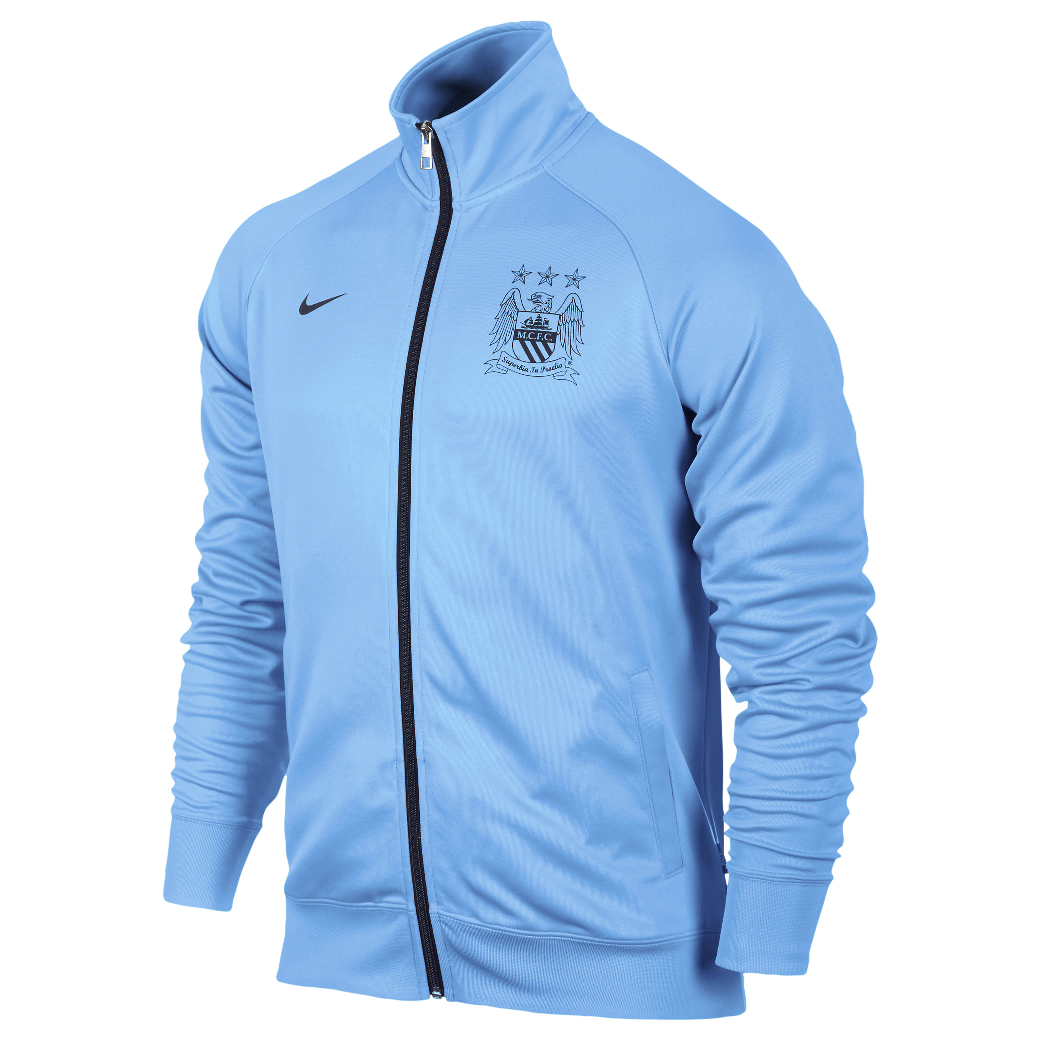Manchester City Core Trainer Jacket - Mens Blue