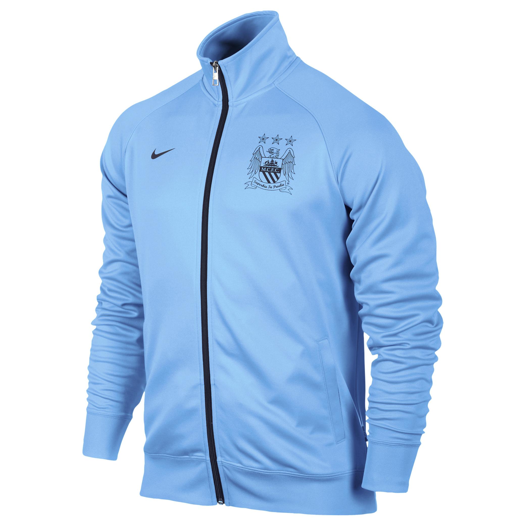 Manchester City Core Trainer Jacket - Mens Blue
