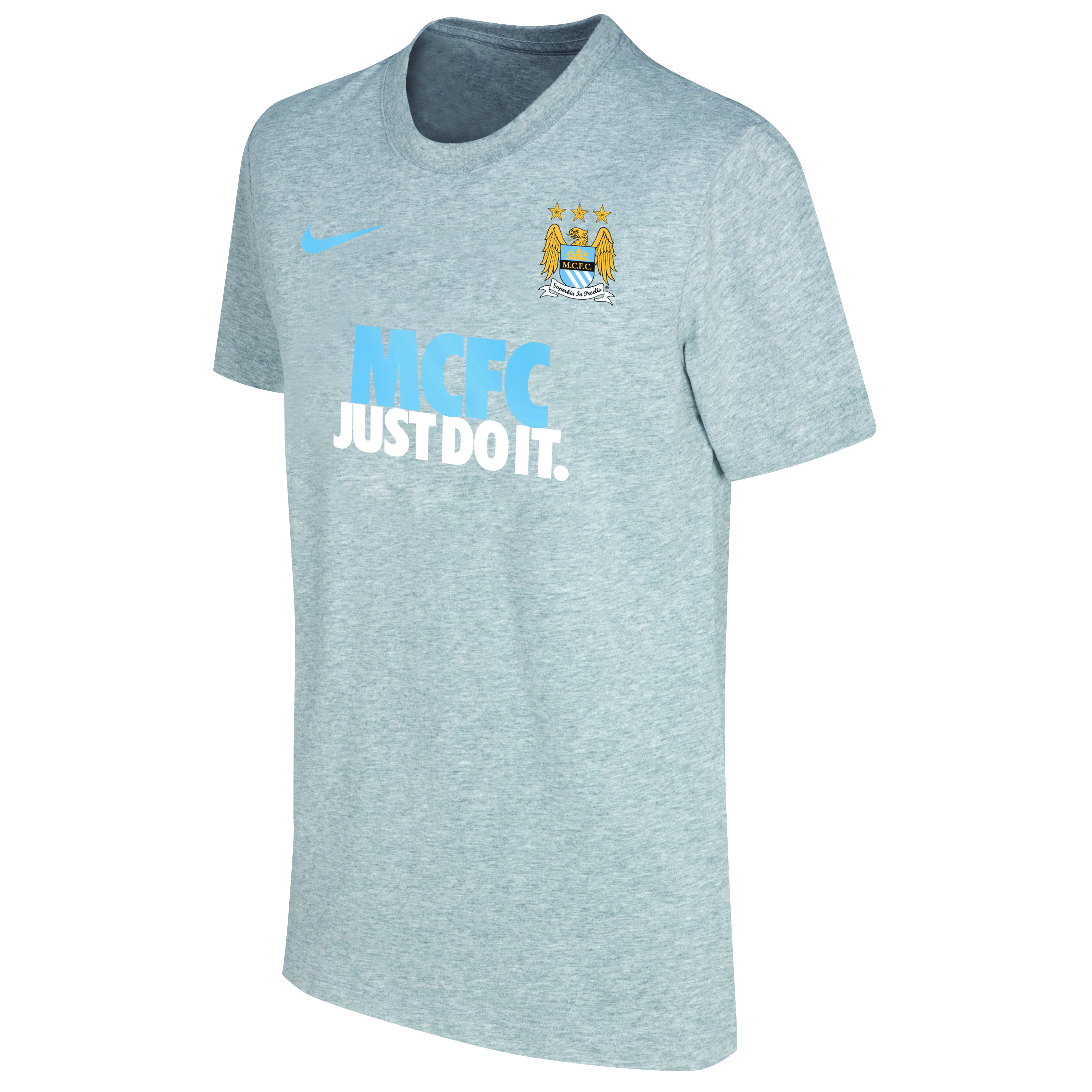 Manchester City Core Just Do It T-Shirt - Mens Grey