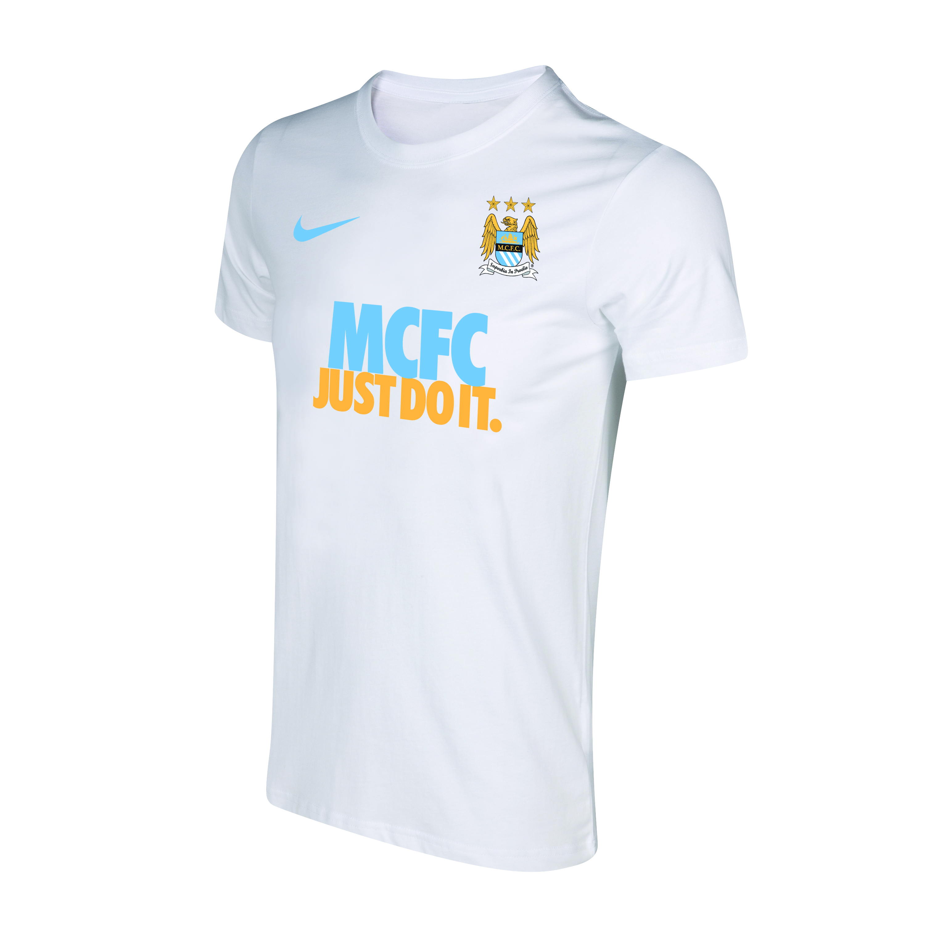 Manchester City Core Just Do It T-Shirt - Mens White