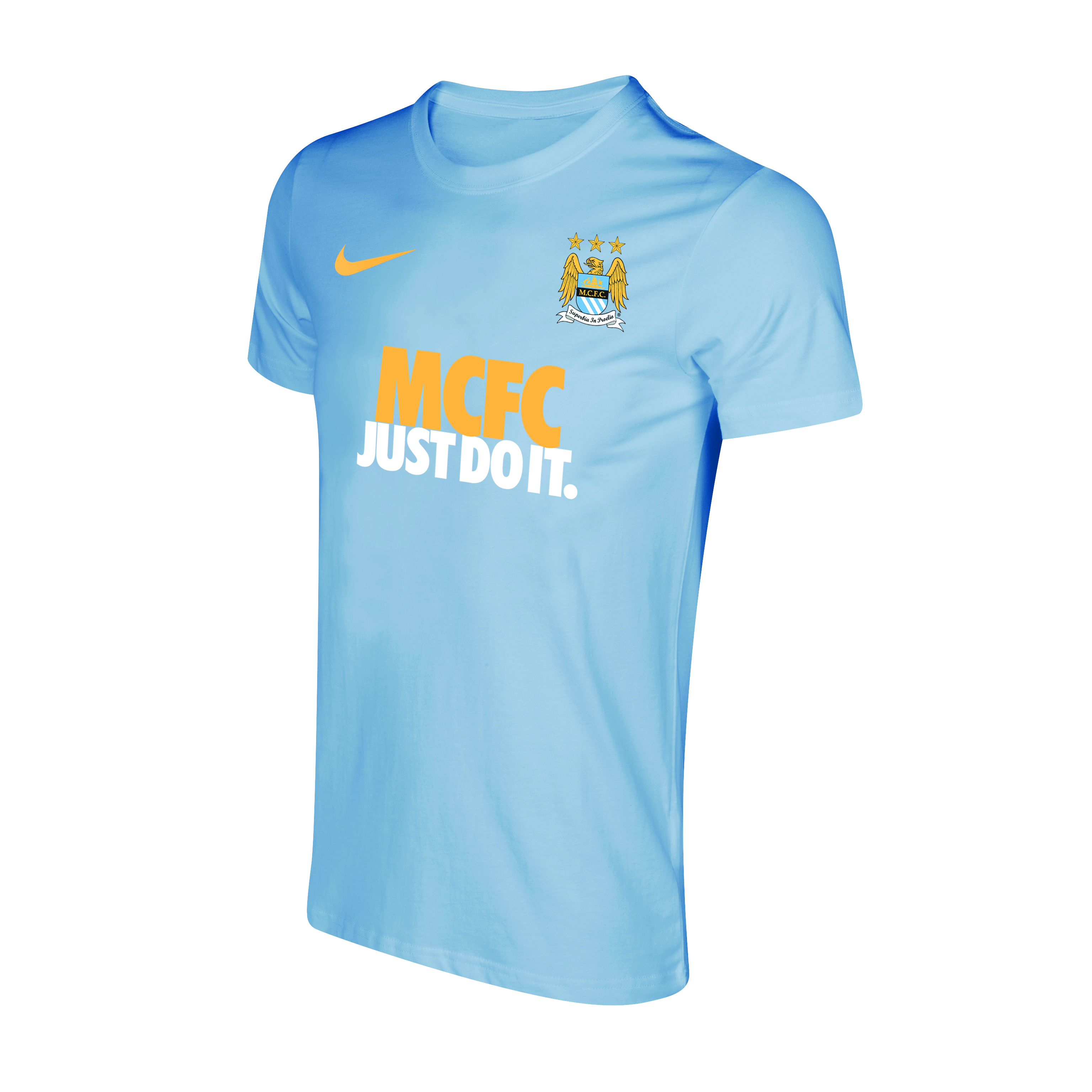 Manchester City Core Just Do It T-Shirt - Mens Blue
