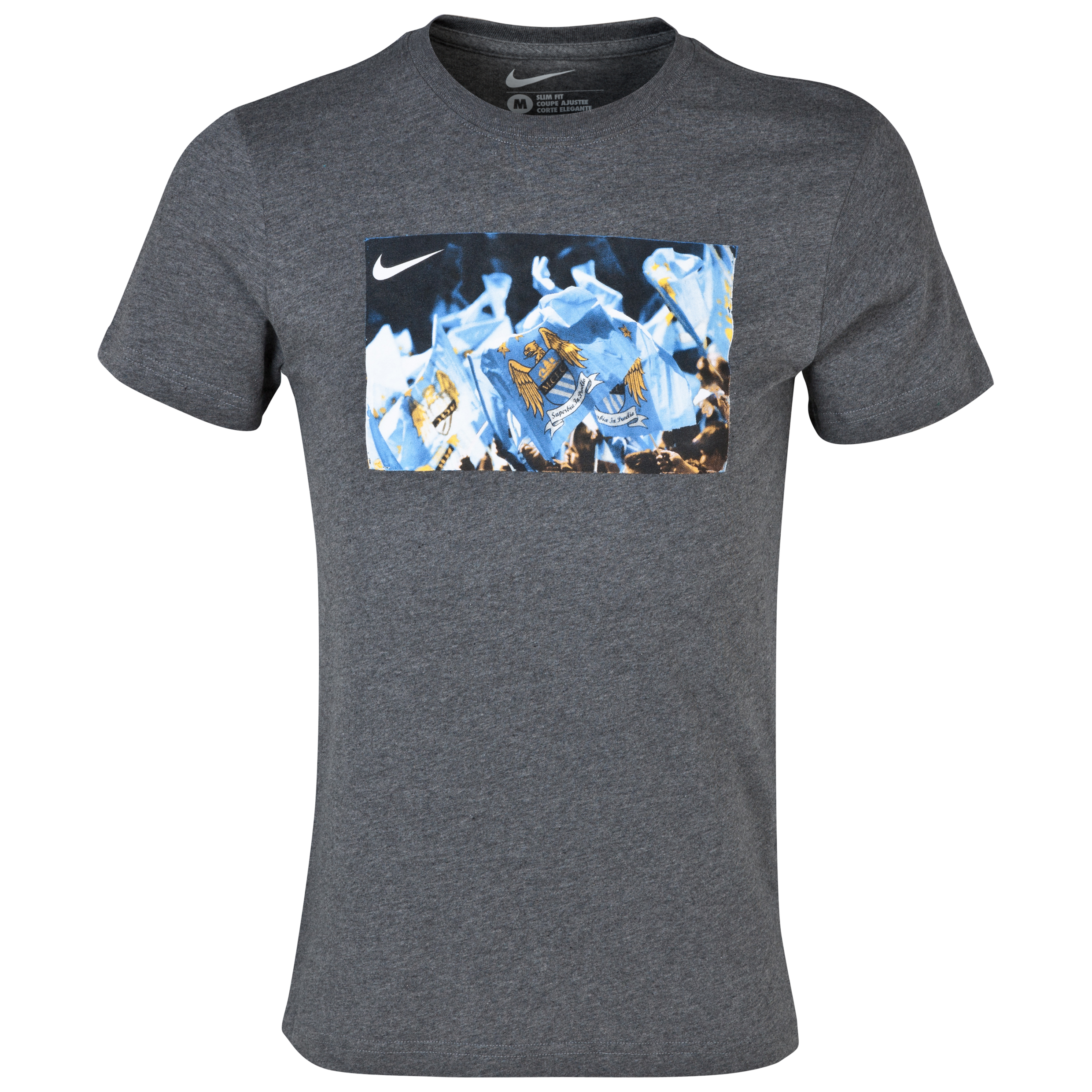 Manchester City Core Plus T-Shirt - Mens Charcoal