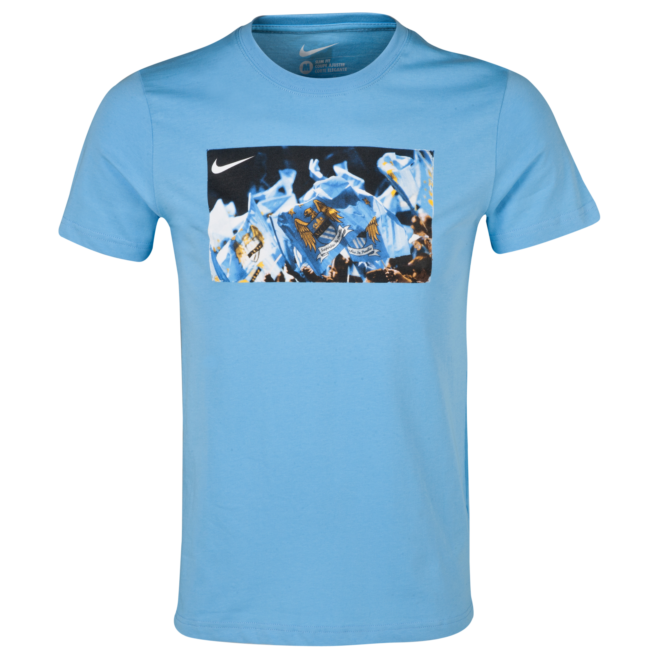 Manchester City Core Plus T-Shirt - Mens Blue
