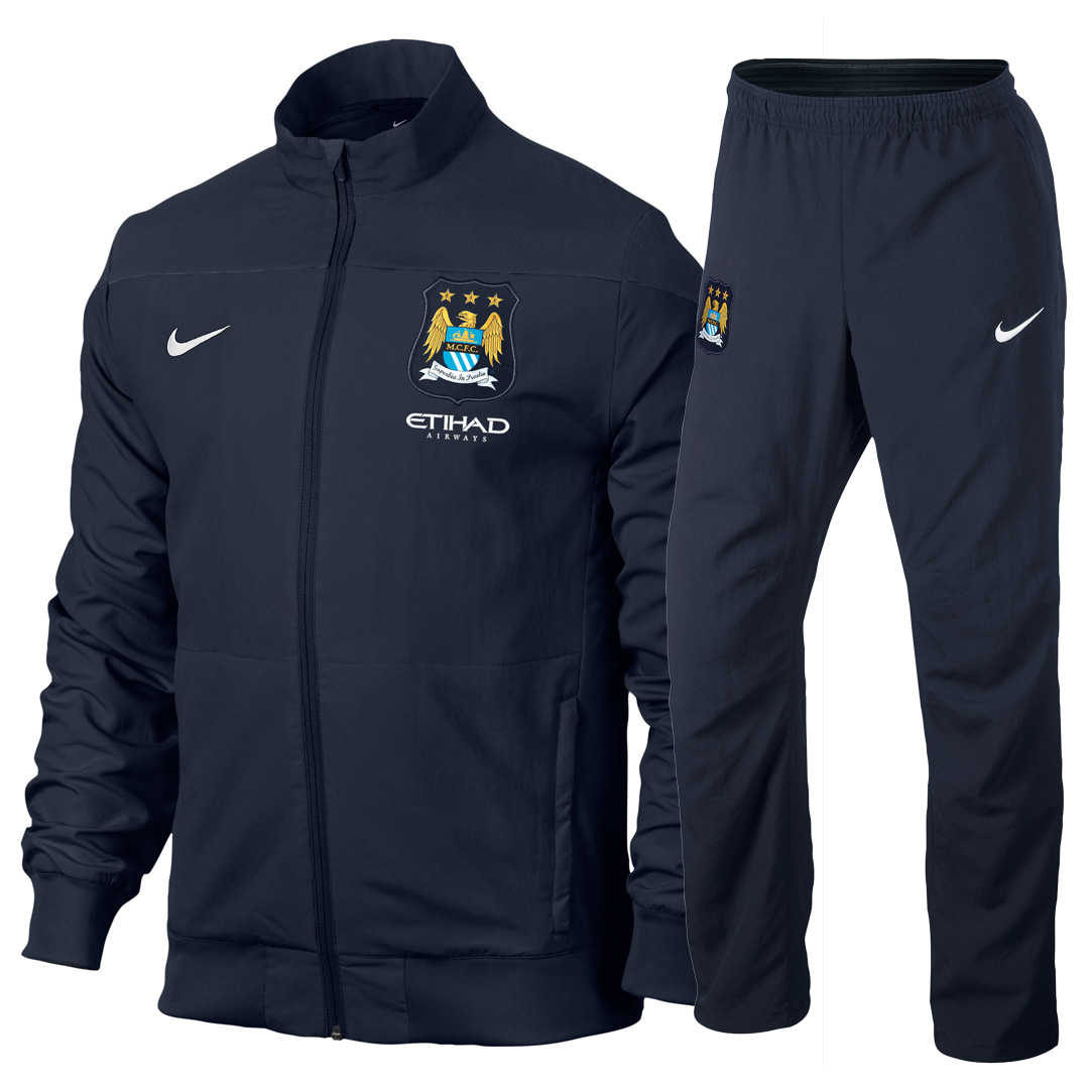 Manchester City Sideline Woven Track Jacket - Junior Blue