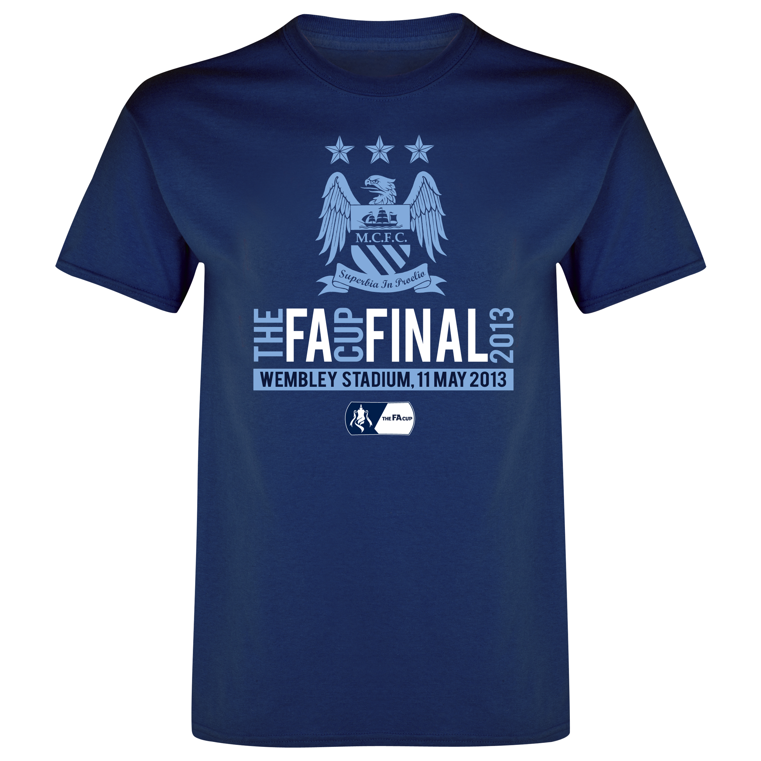 Manchester City The FA Cup Final 2013 T-Shirt - Junior Navy