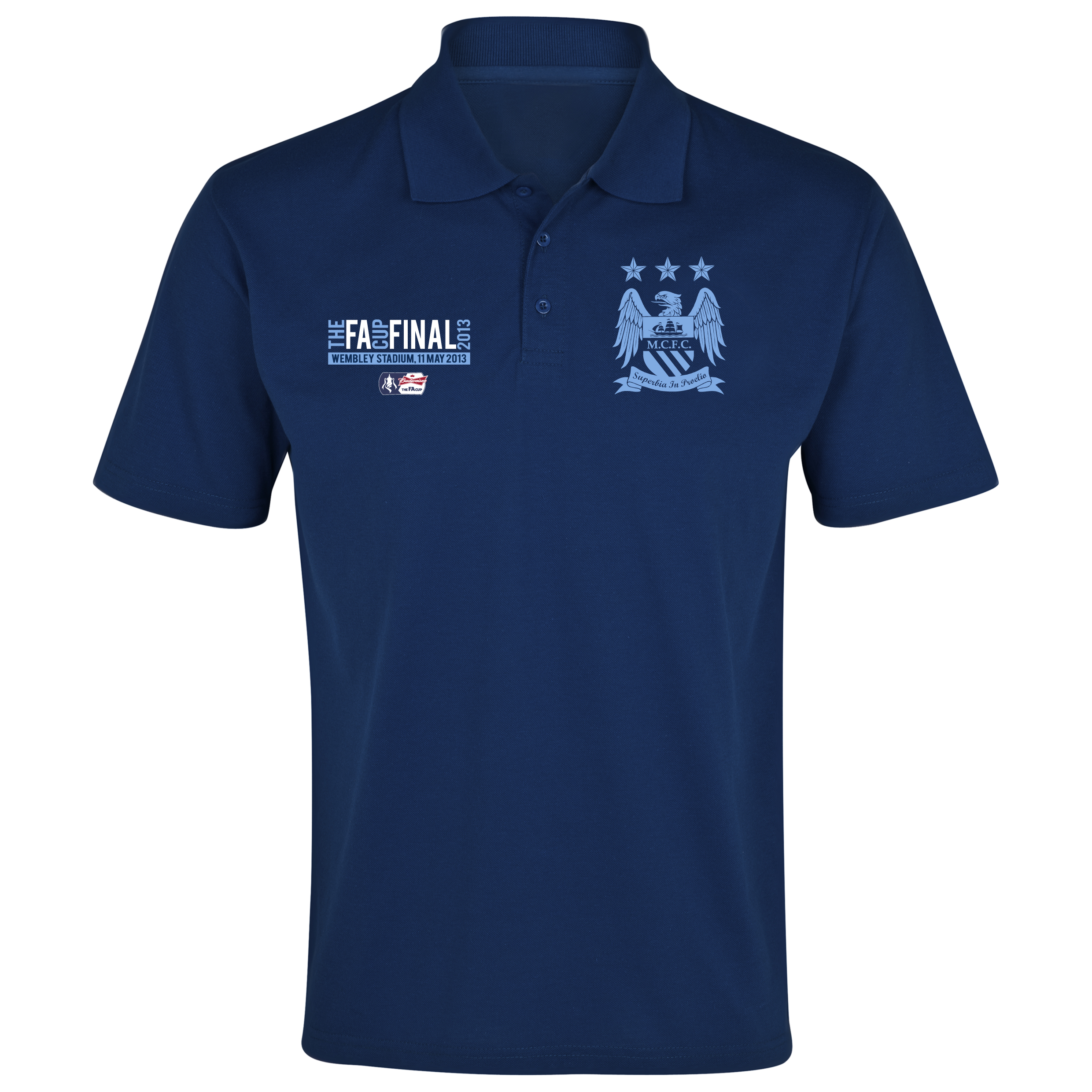 Manchester City The FA Cup Final 2013 Polo Shirt Navy
