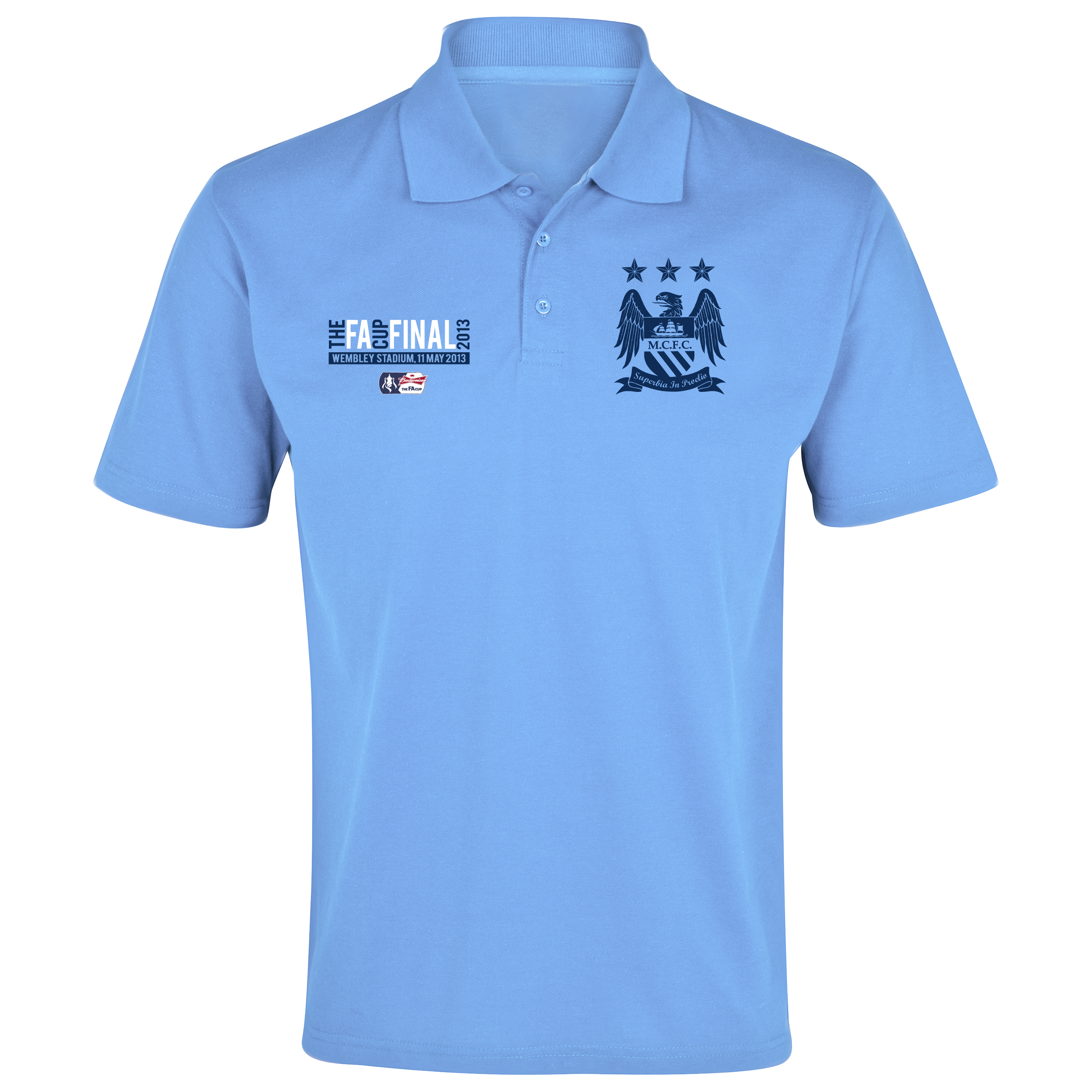 Manchester City The FA Cup Final 2013 Polo Shirt Sky Blue
