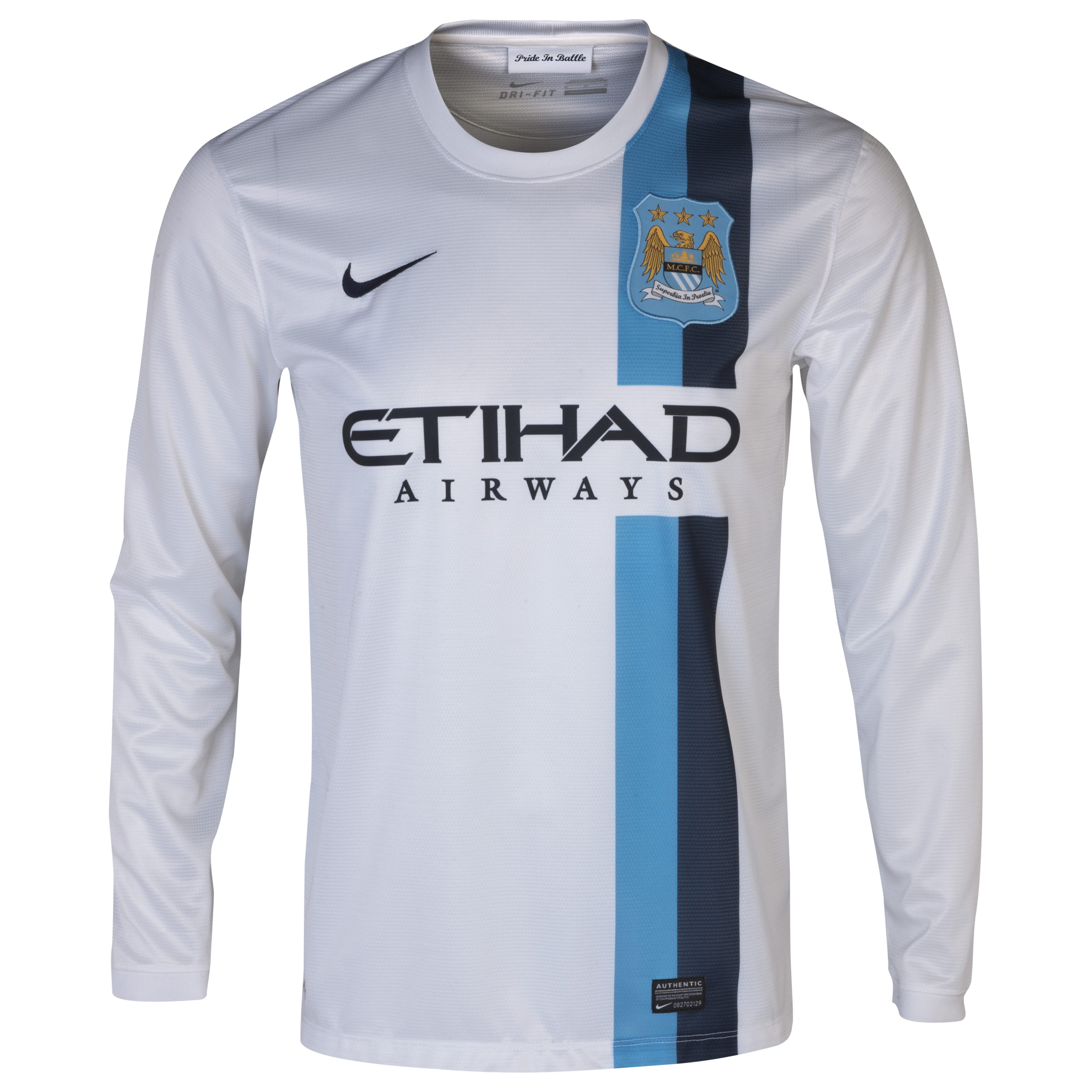 Manchester City Cup Away Shirt 2013/14 - Long Sleeved White
