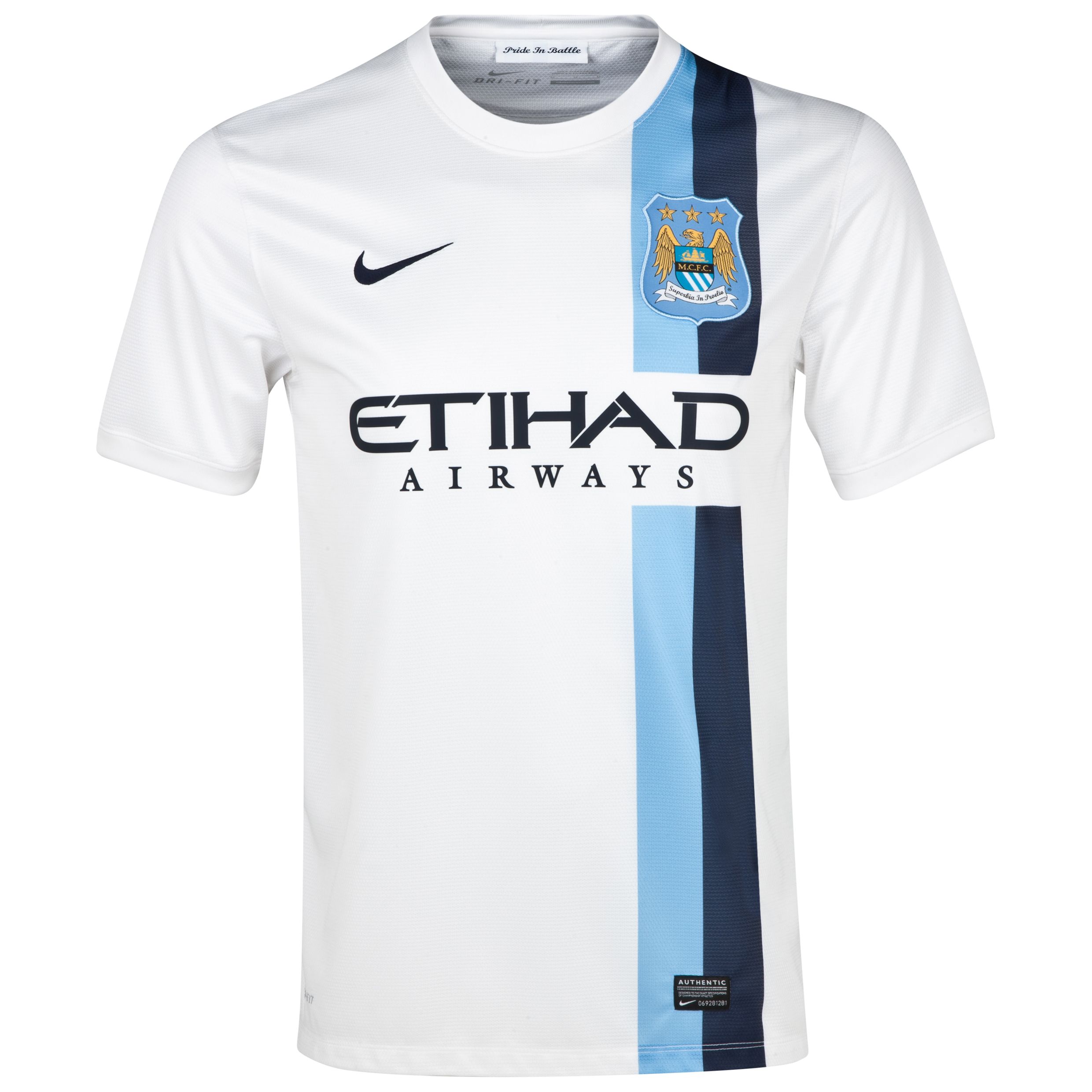 Manchester City Cup away Shirt 2013/14 - Junior White