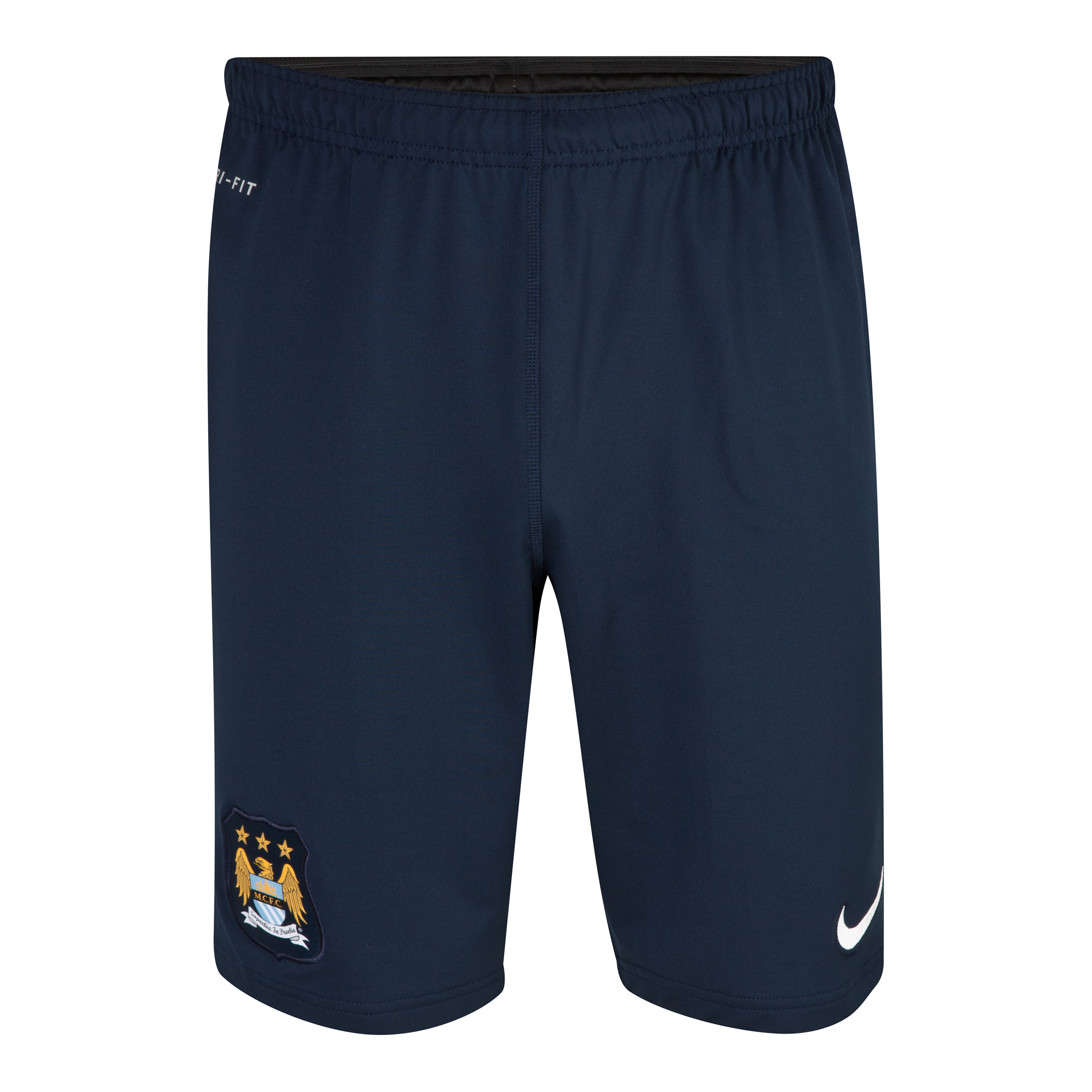 Manchester City Longer Knit Short - Mens Navy