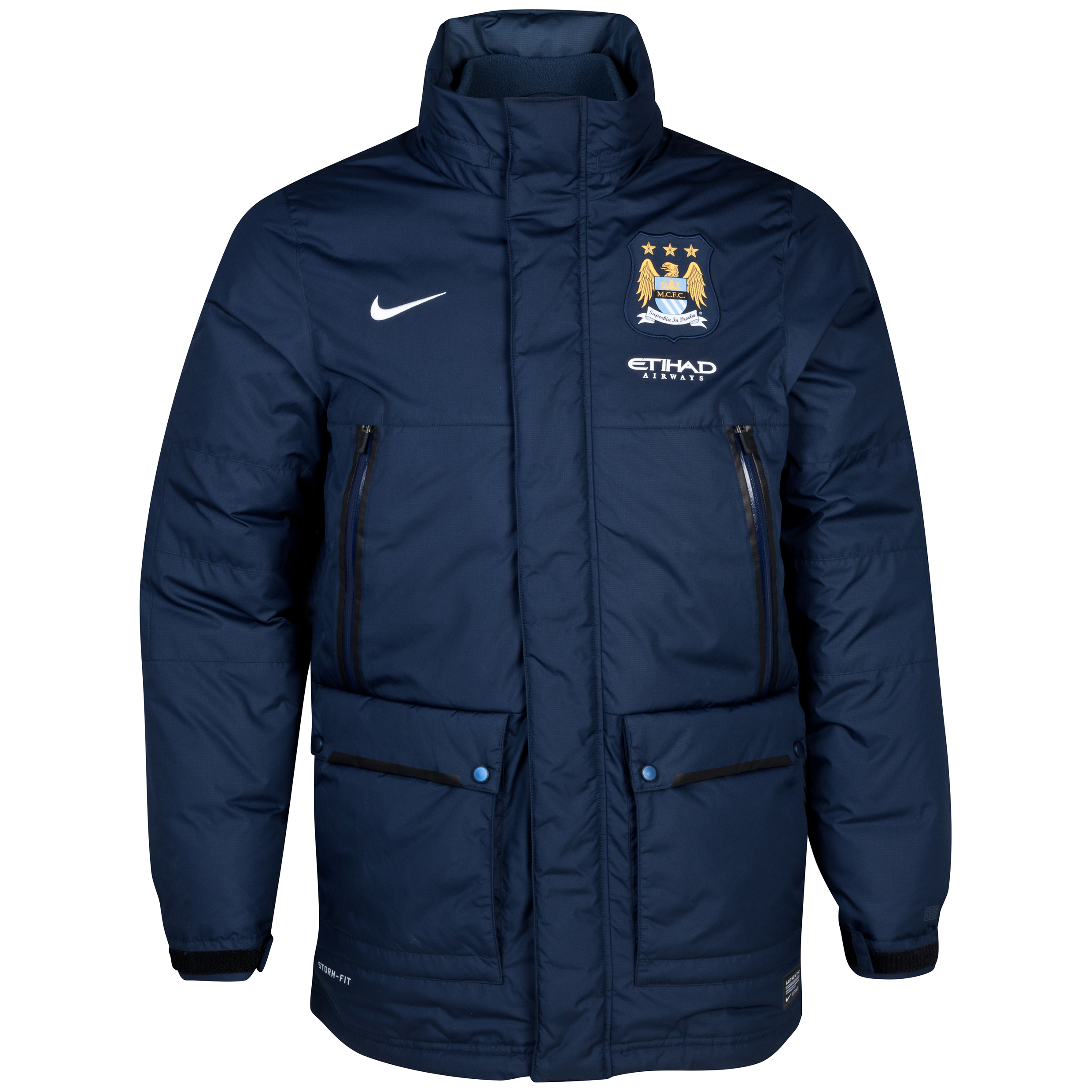 Manchester City Select Down Short Jacket - Mens Navy
