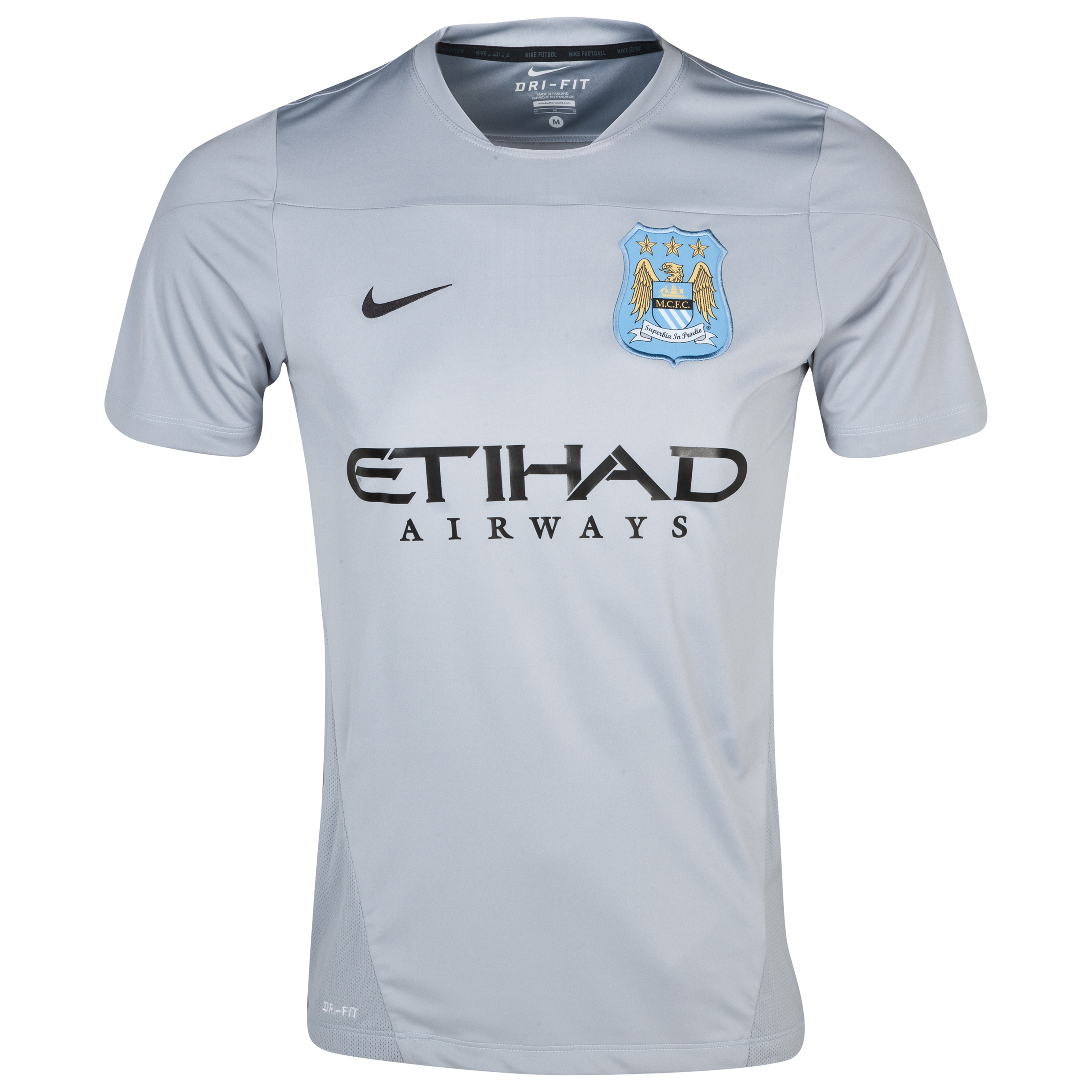 Manchester City Squad Training Top- Mens Grey