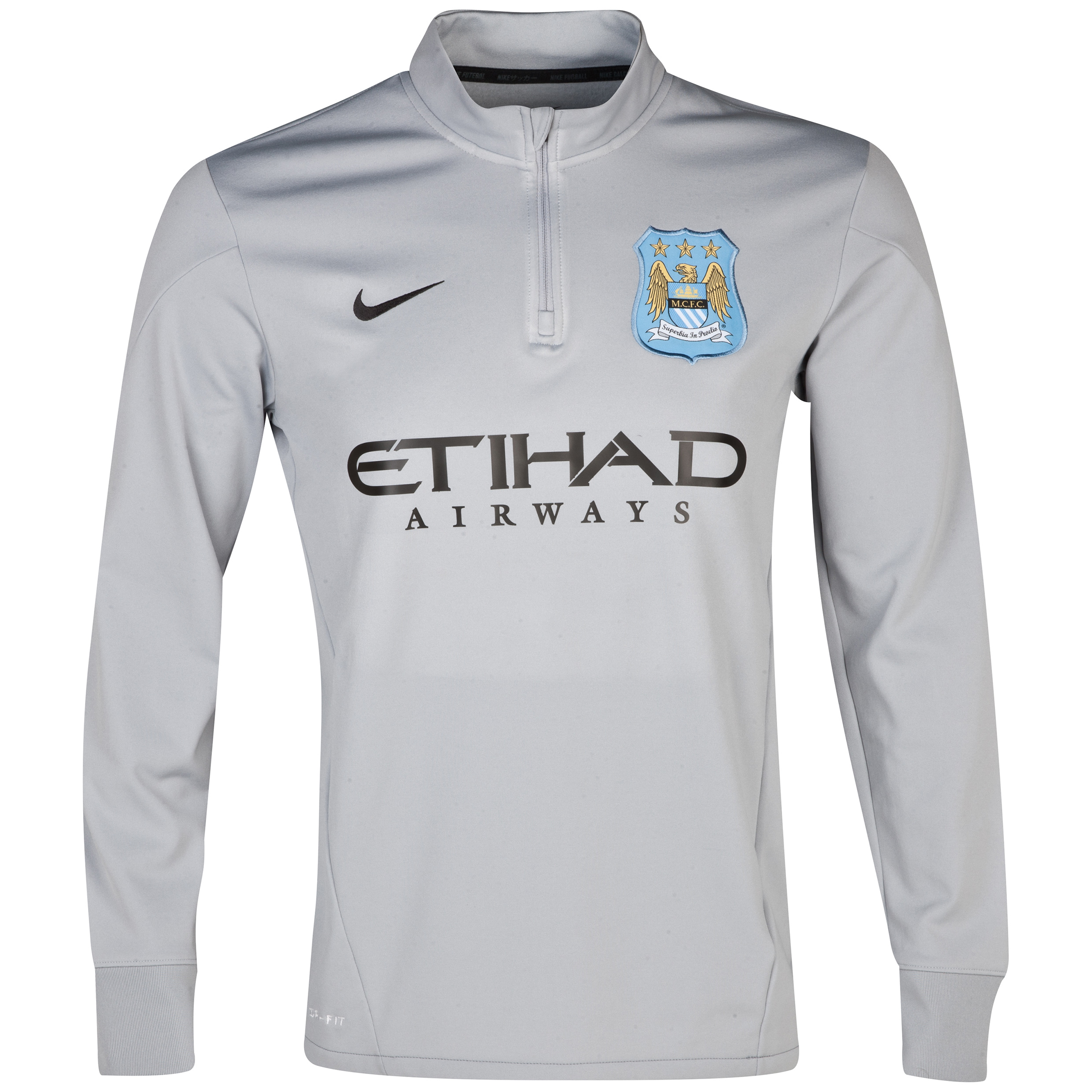Manchester City Squad Midlayer - Mens Grey