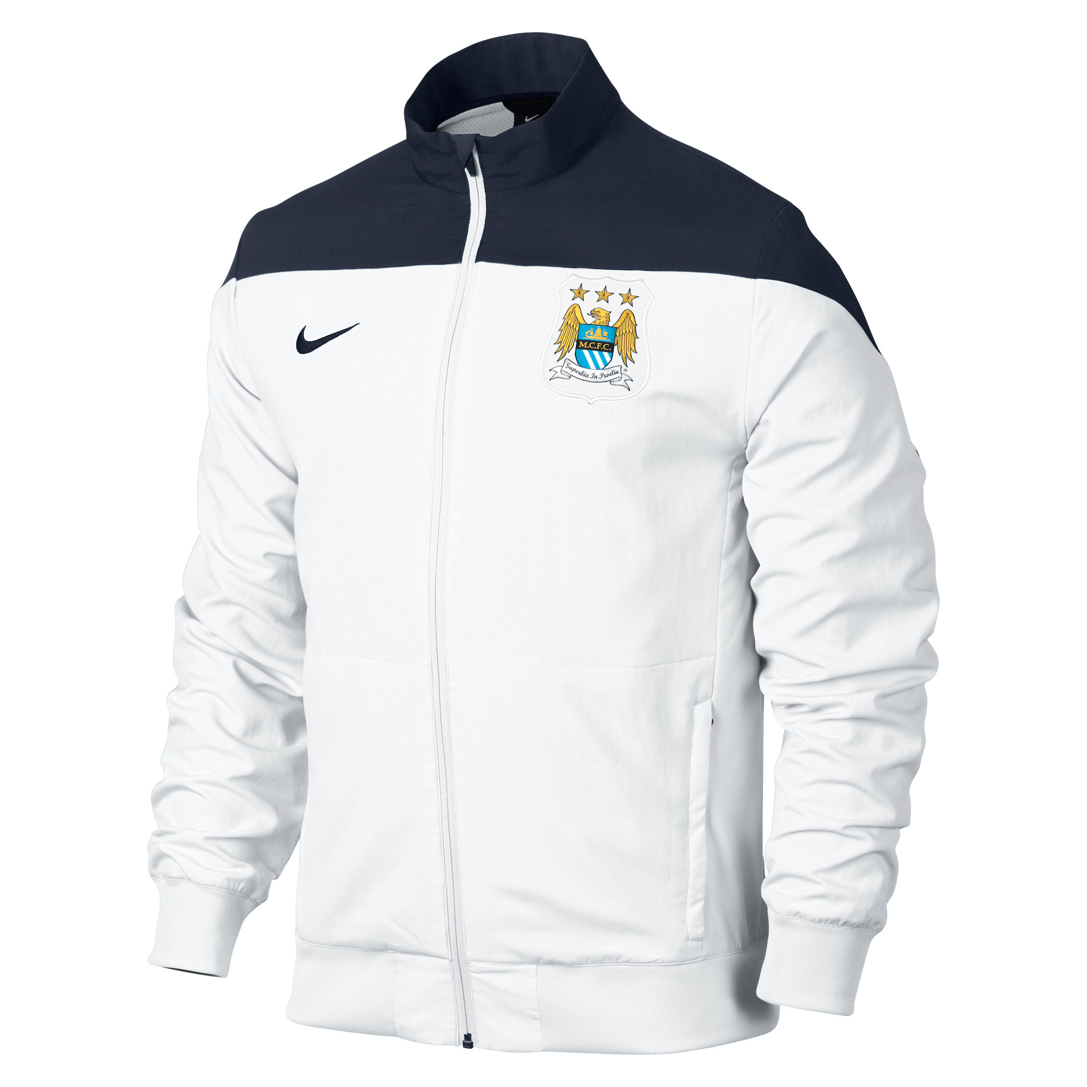 Manchester City Sideline Woven Track Jacket - Mens White
