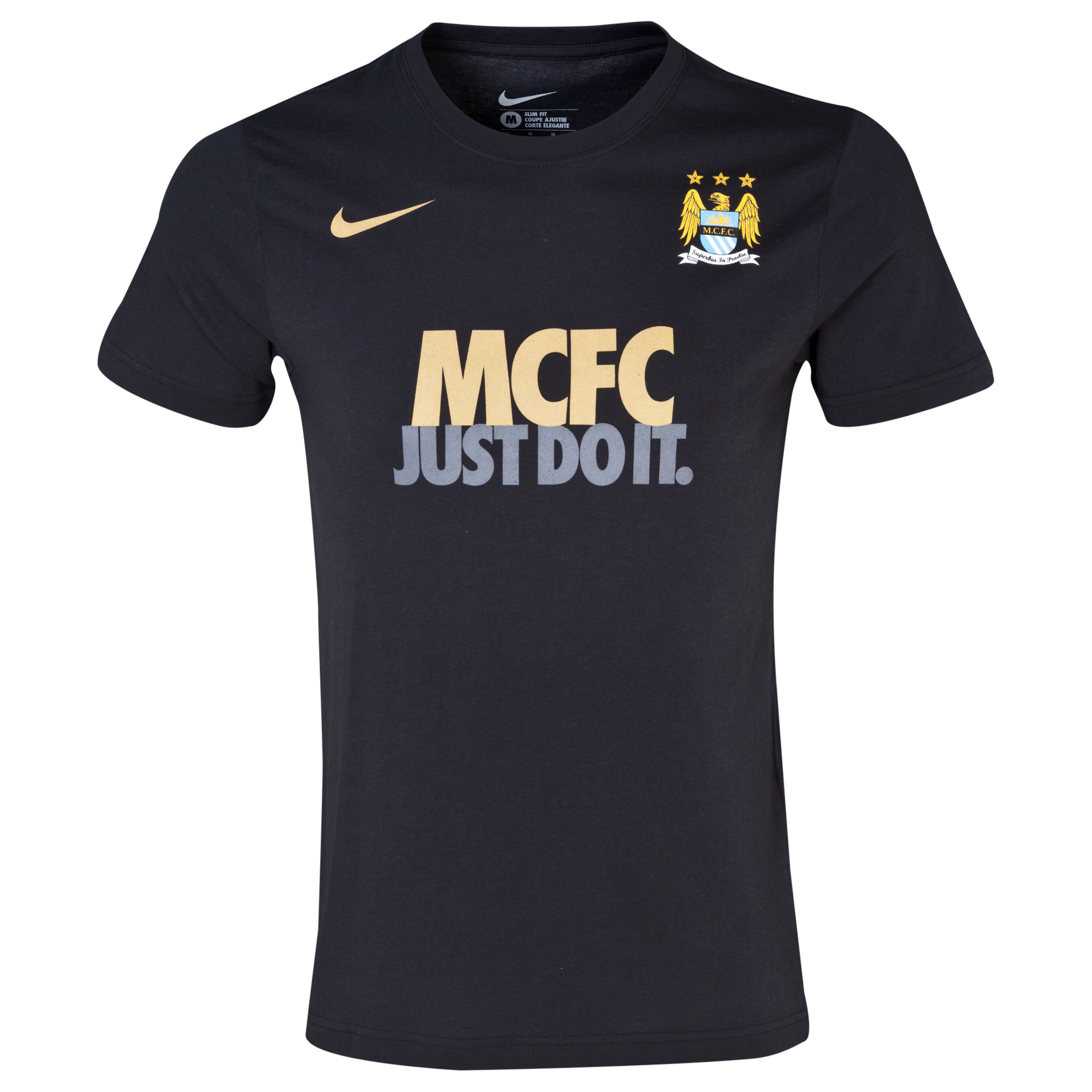 Manchester City Core Just Do It T-Shirt - Mens Black