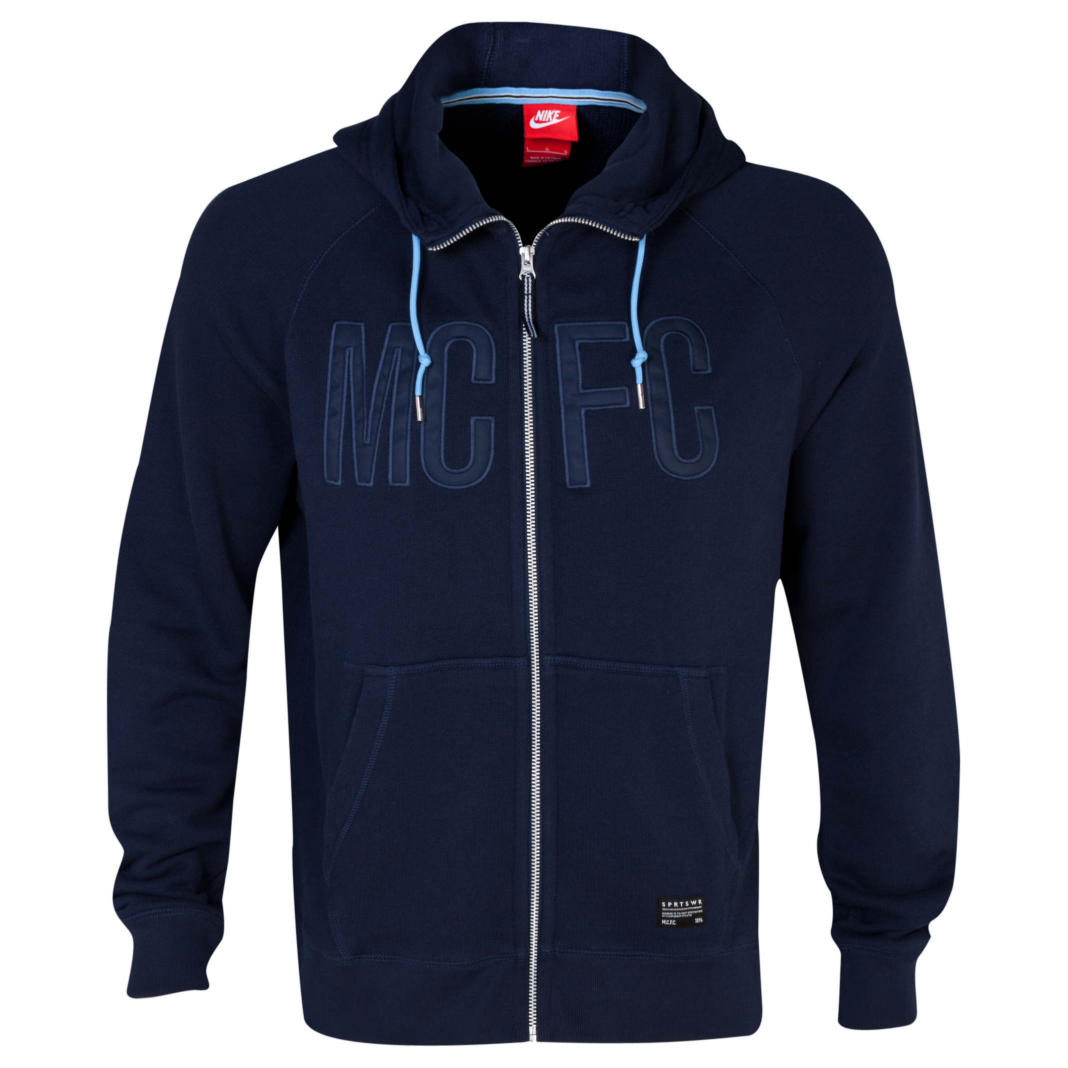 Manchester City AW77 Covert Full Zip Hoody - Mens Dk Blue