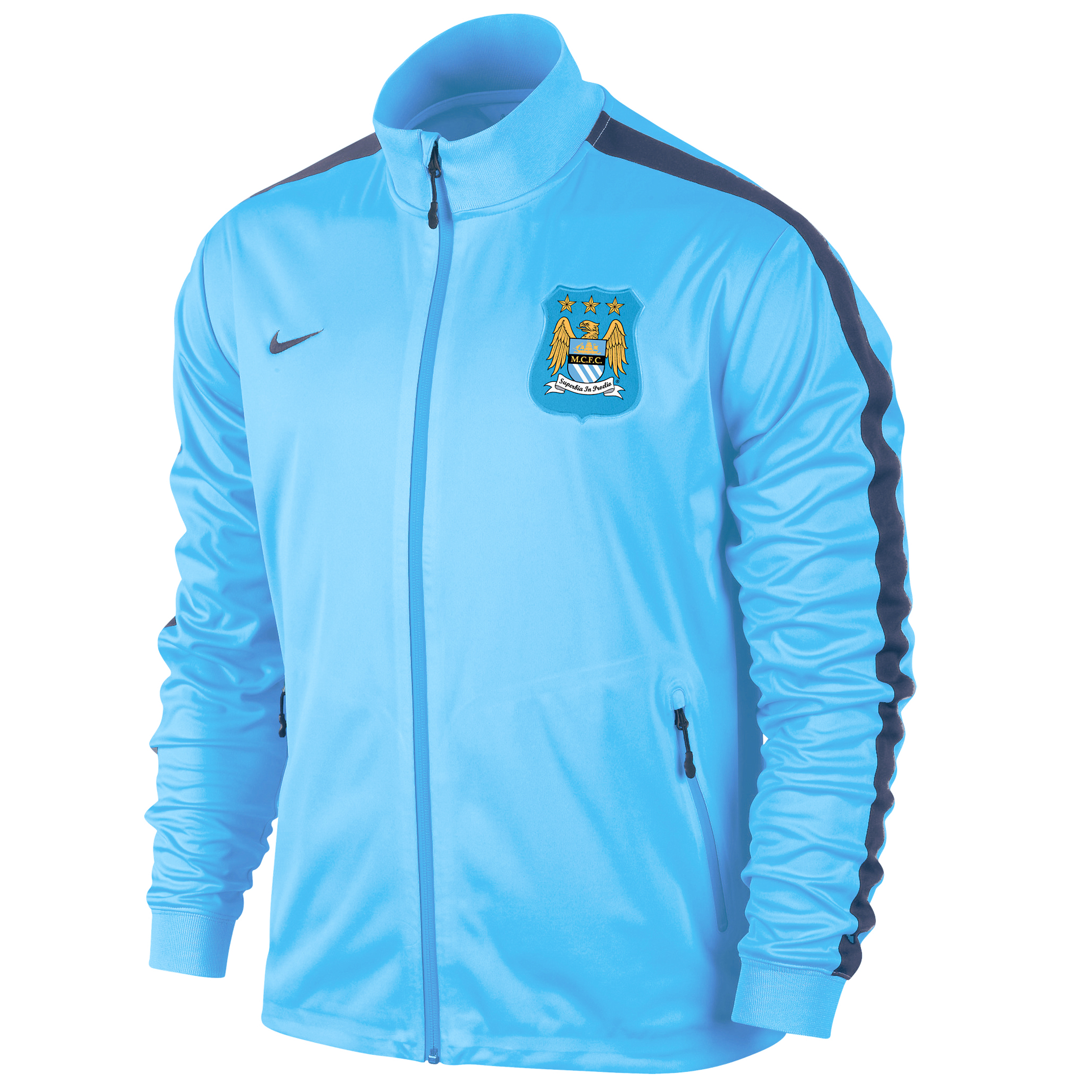 Manchester City UCL Winterised Authentic N98 Track Jacket - Mens Dk Blue