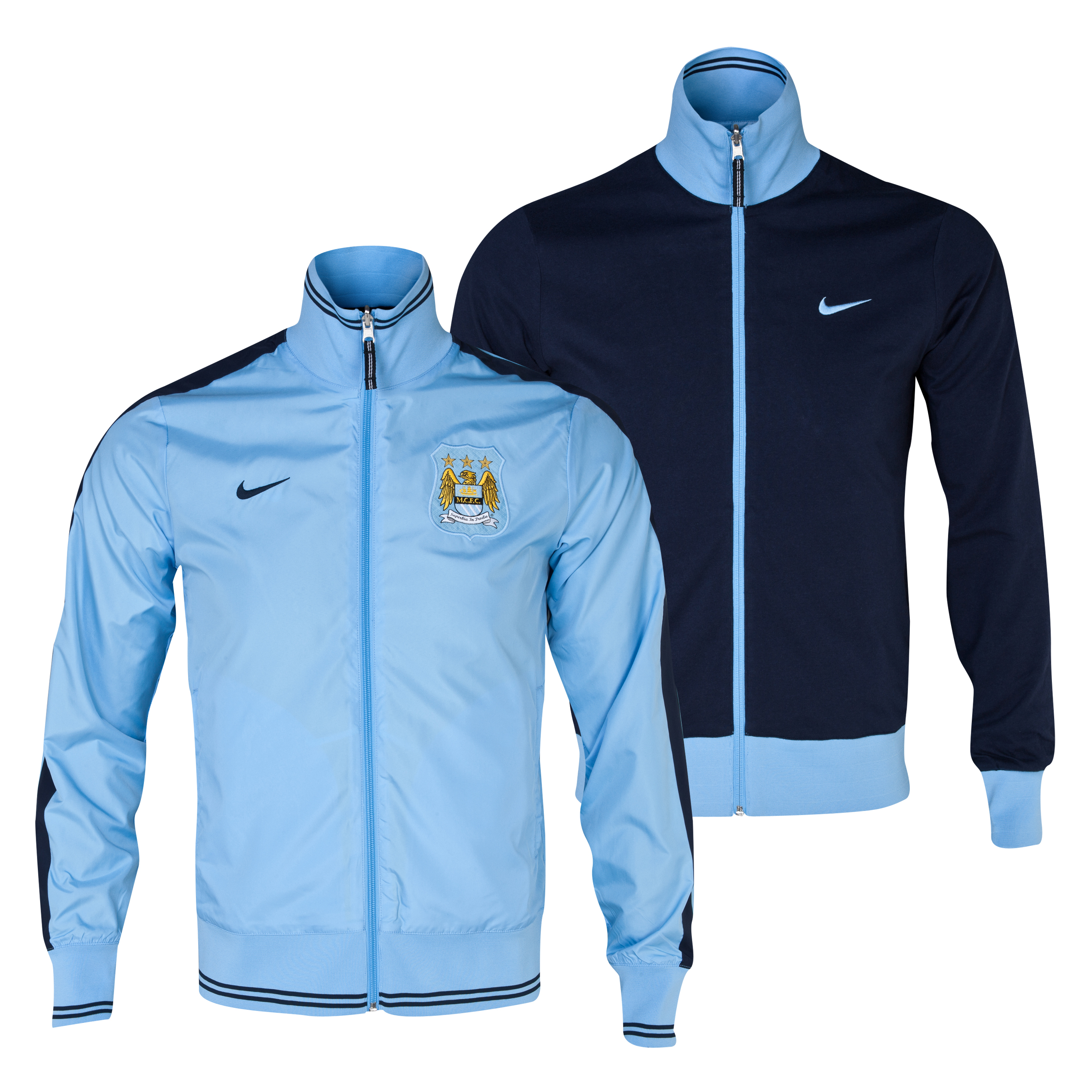 Manchester City Authentic Reversible Jacket - Mens Blue