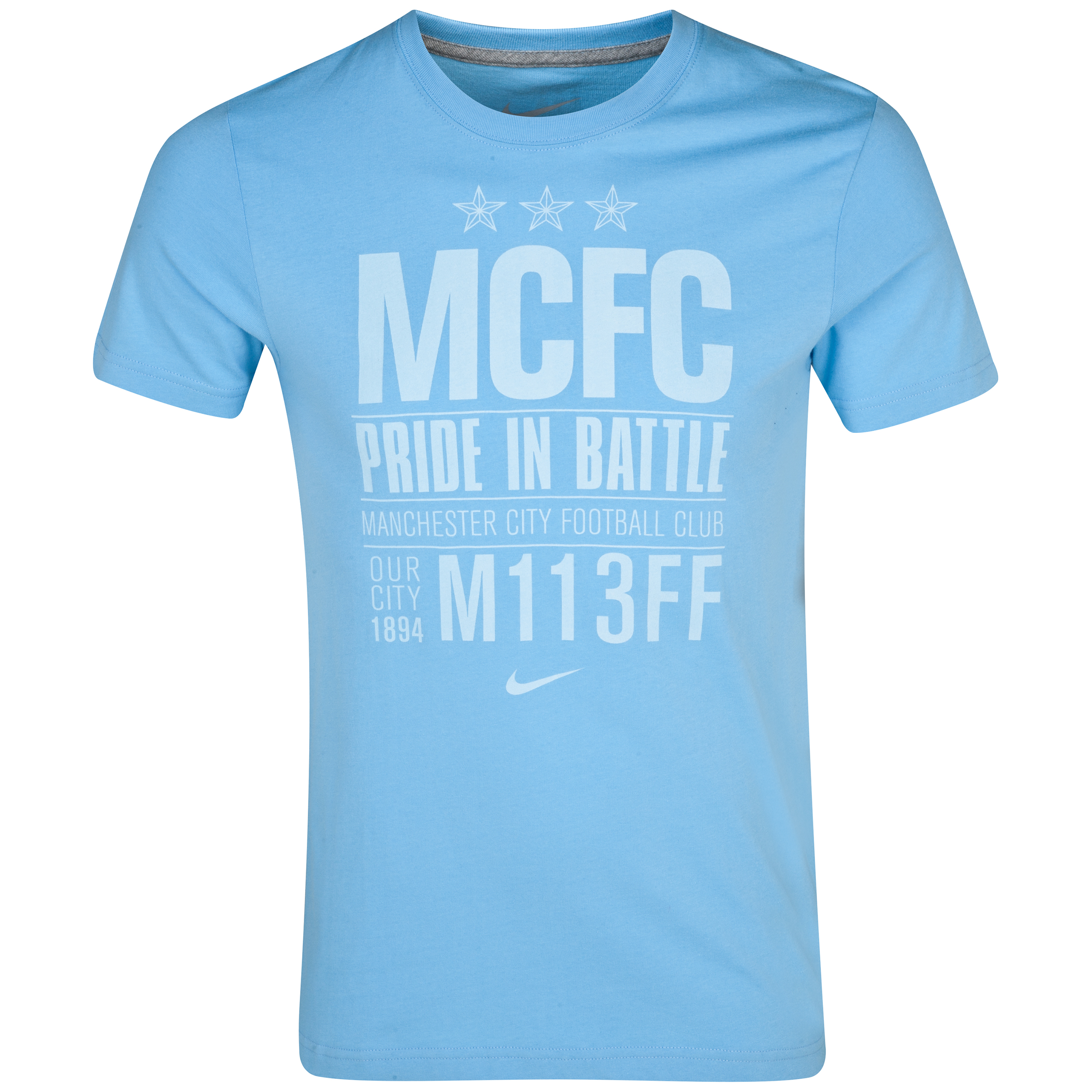 Manchester City Core Plus PIB T-Shirt - Mens Blue