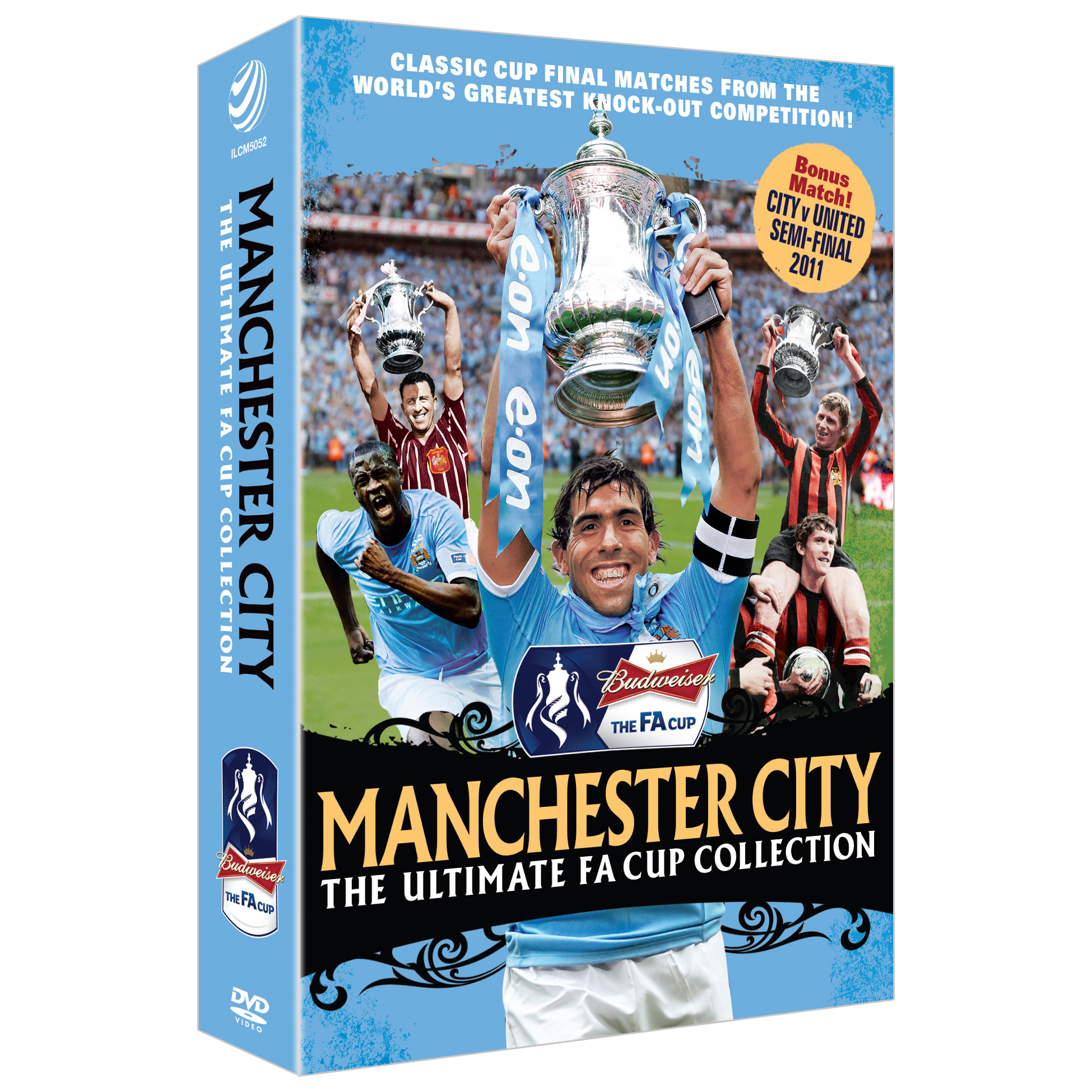 Manchester City The Ultimate FA Cup Collection- 3 Disc Box Set DVD