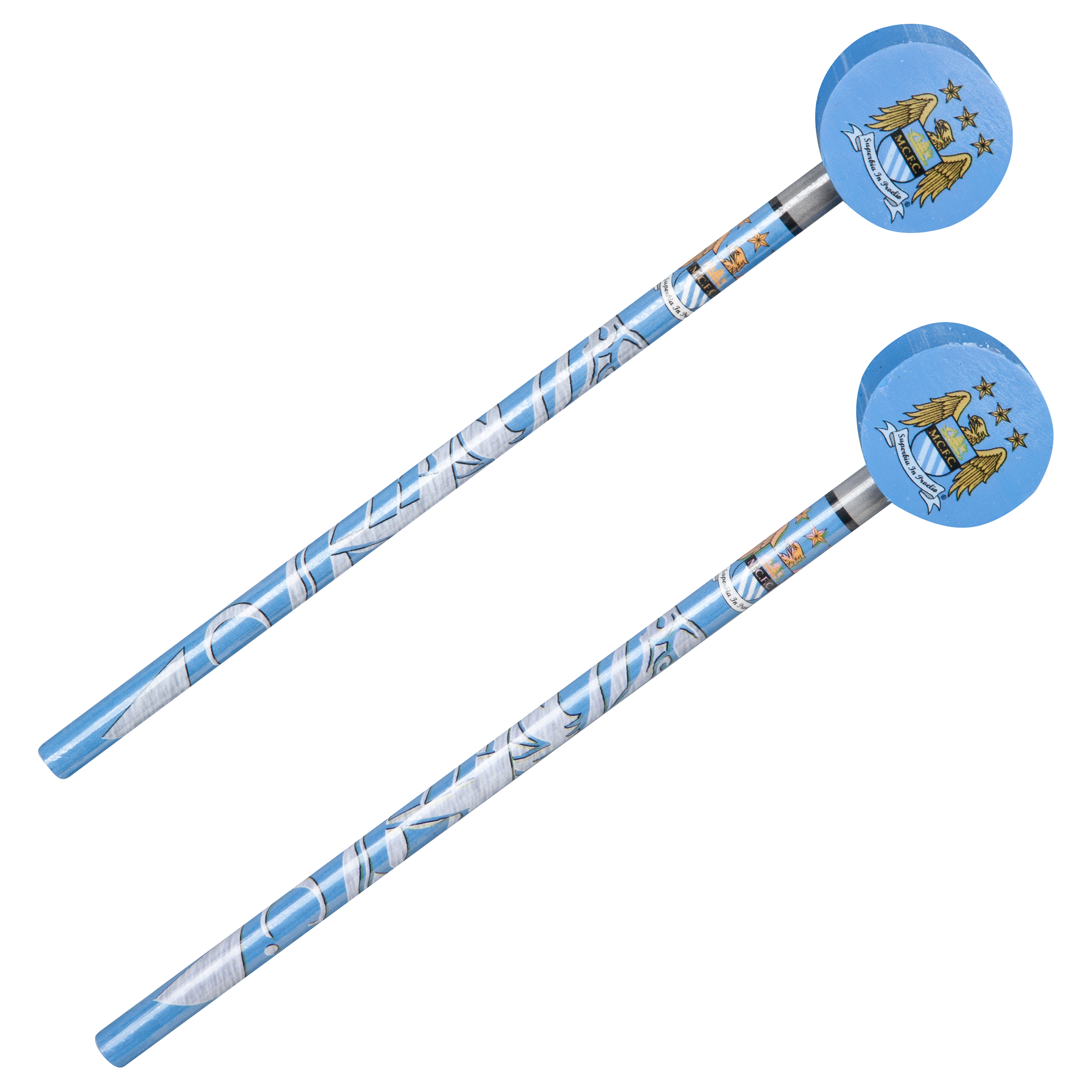 Manchester City 2 Pack Pencils and Tops