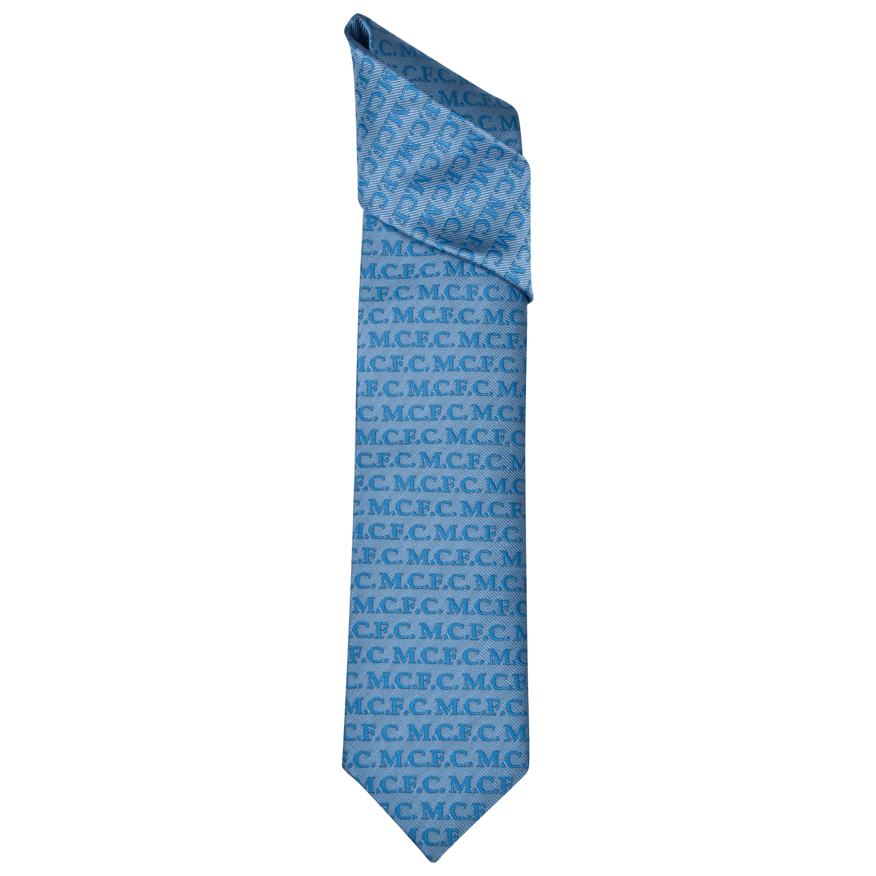 Manchester City Polyester MCFC Repeat Tie Grey