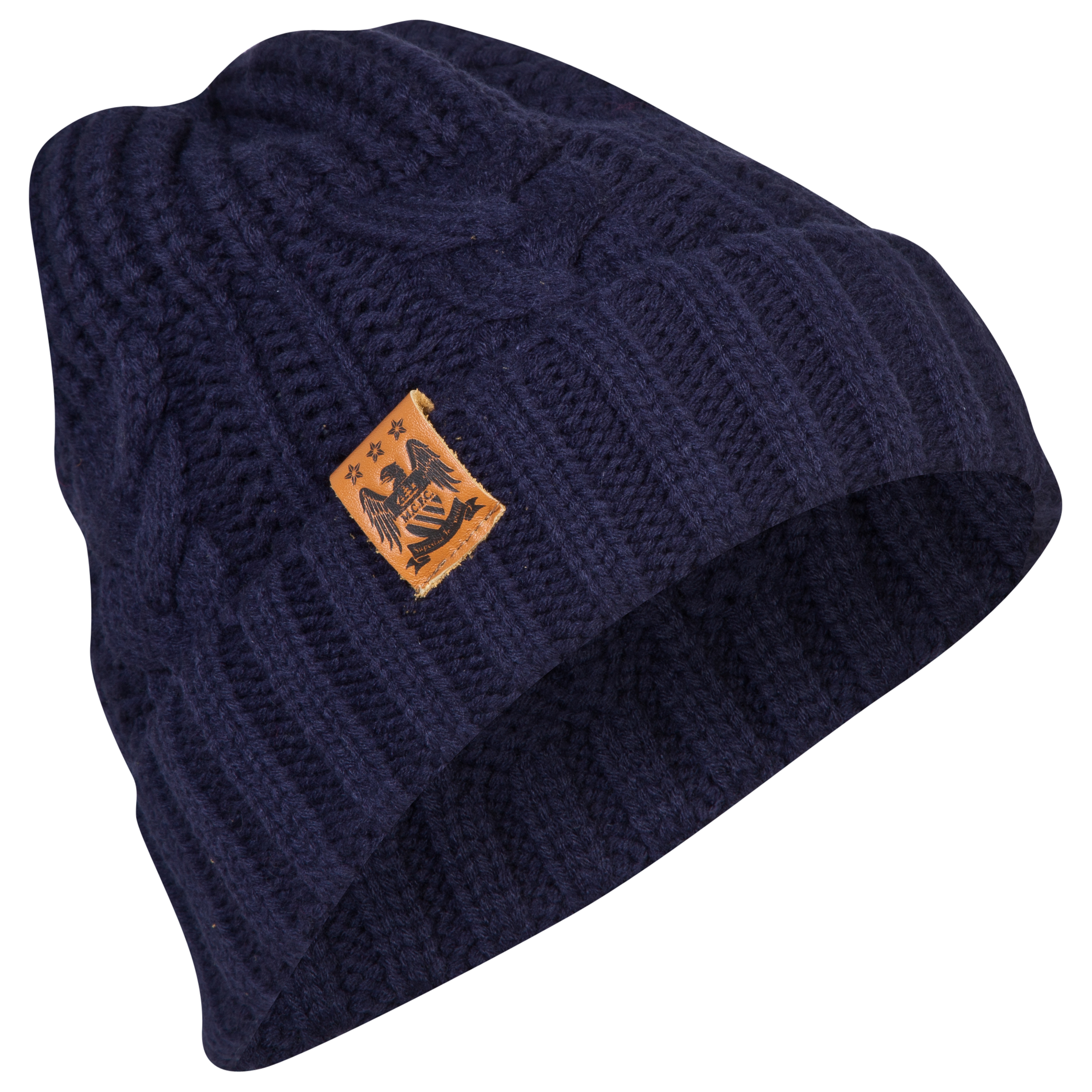 Manchester City Cable Hat Navy