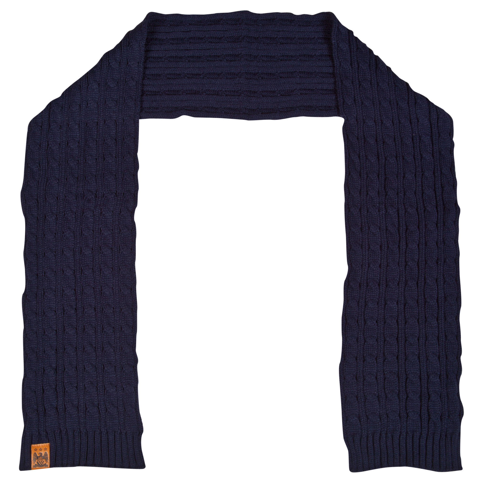 Manchester City Cable Scarf Navy