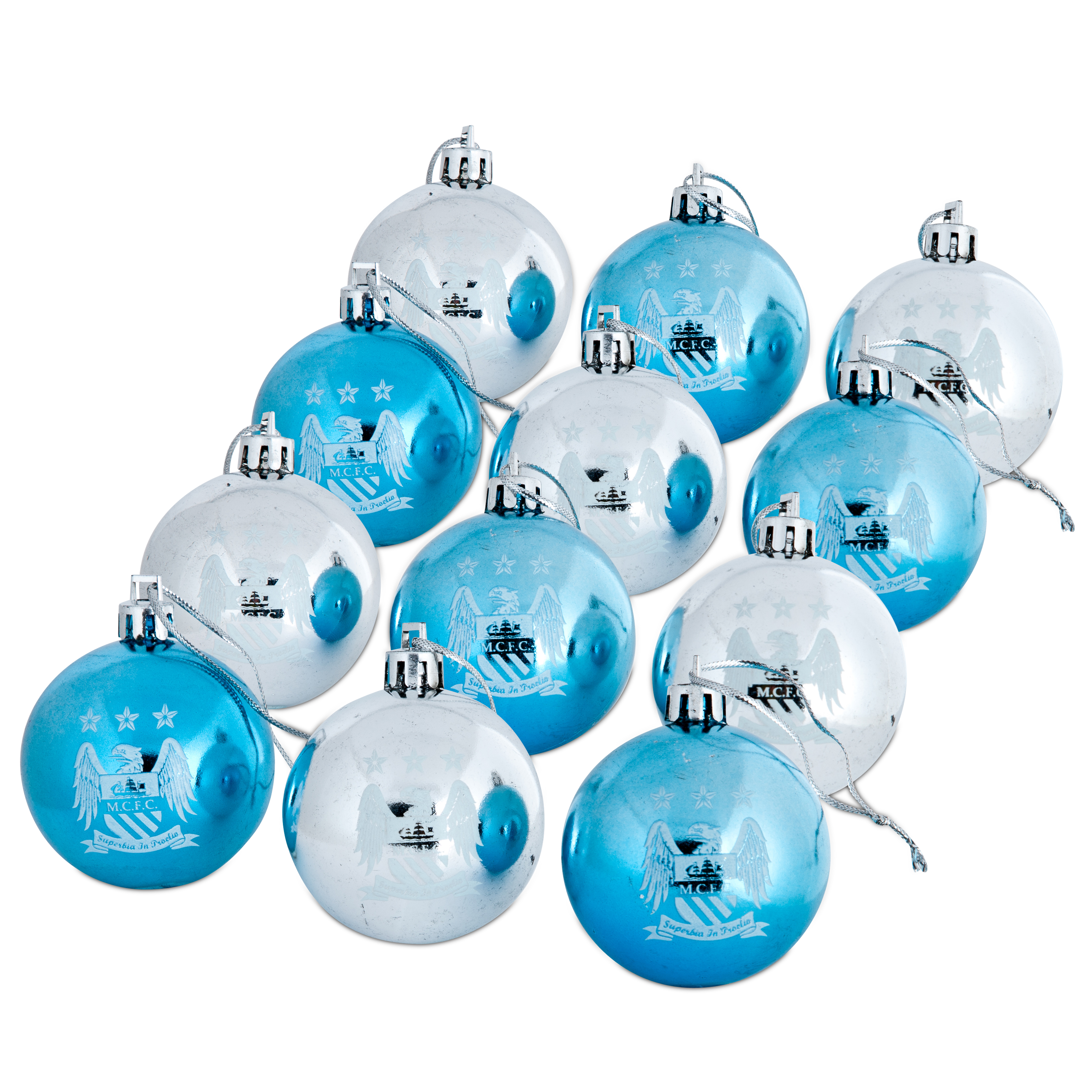 Manchester City Baubles 12 Pack