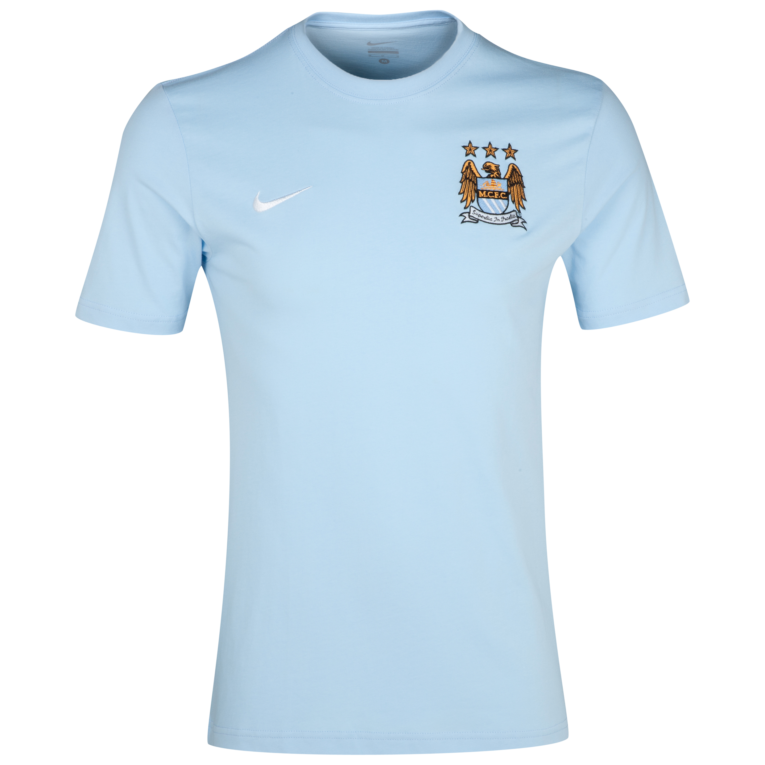 Manchester City Express Core T-Shirt - Ice Blue/White Blue