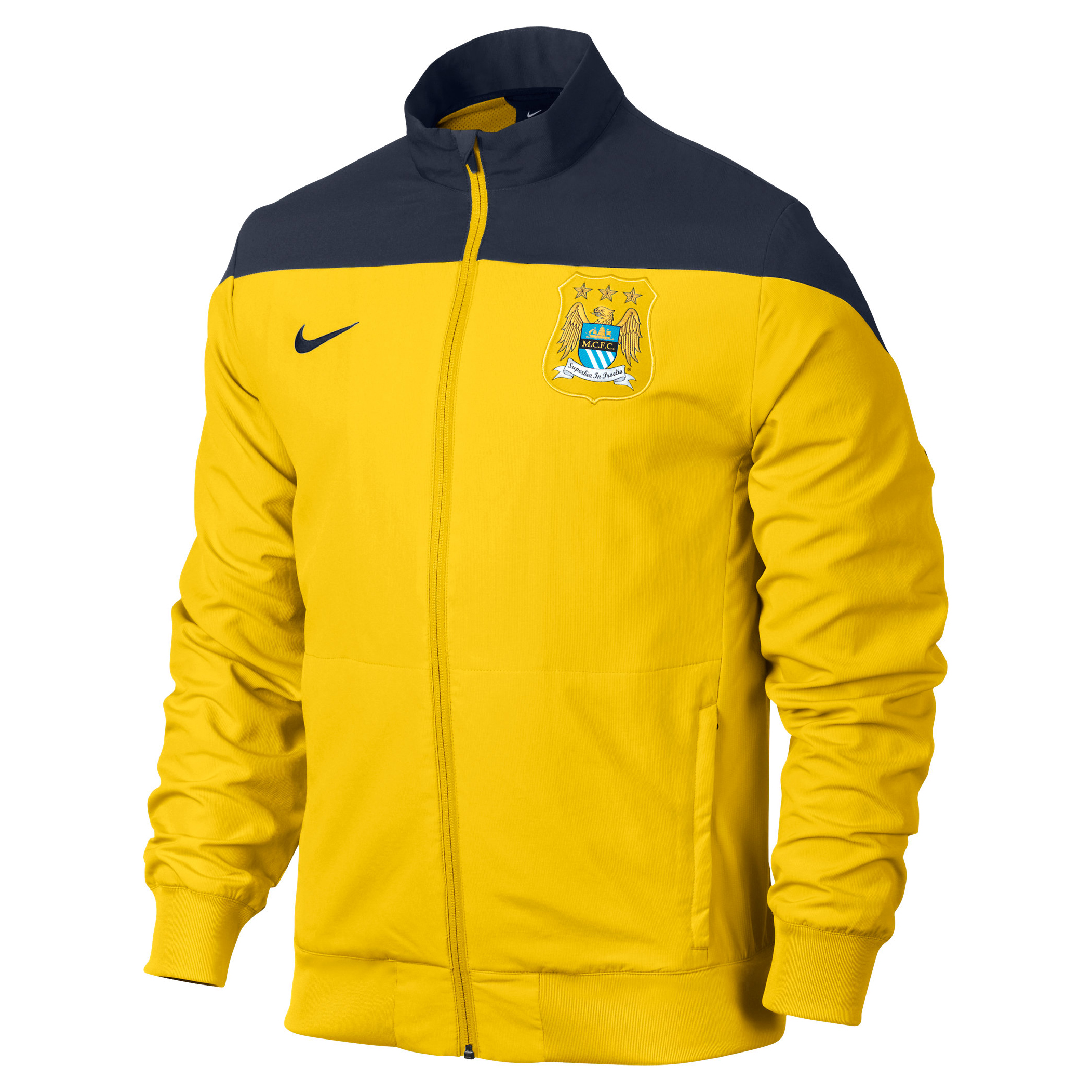 Manchester City Squad Sideline Woven Jacket Yellow