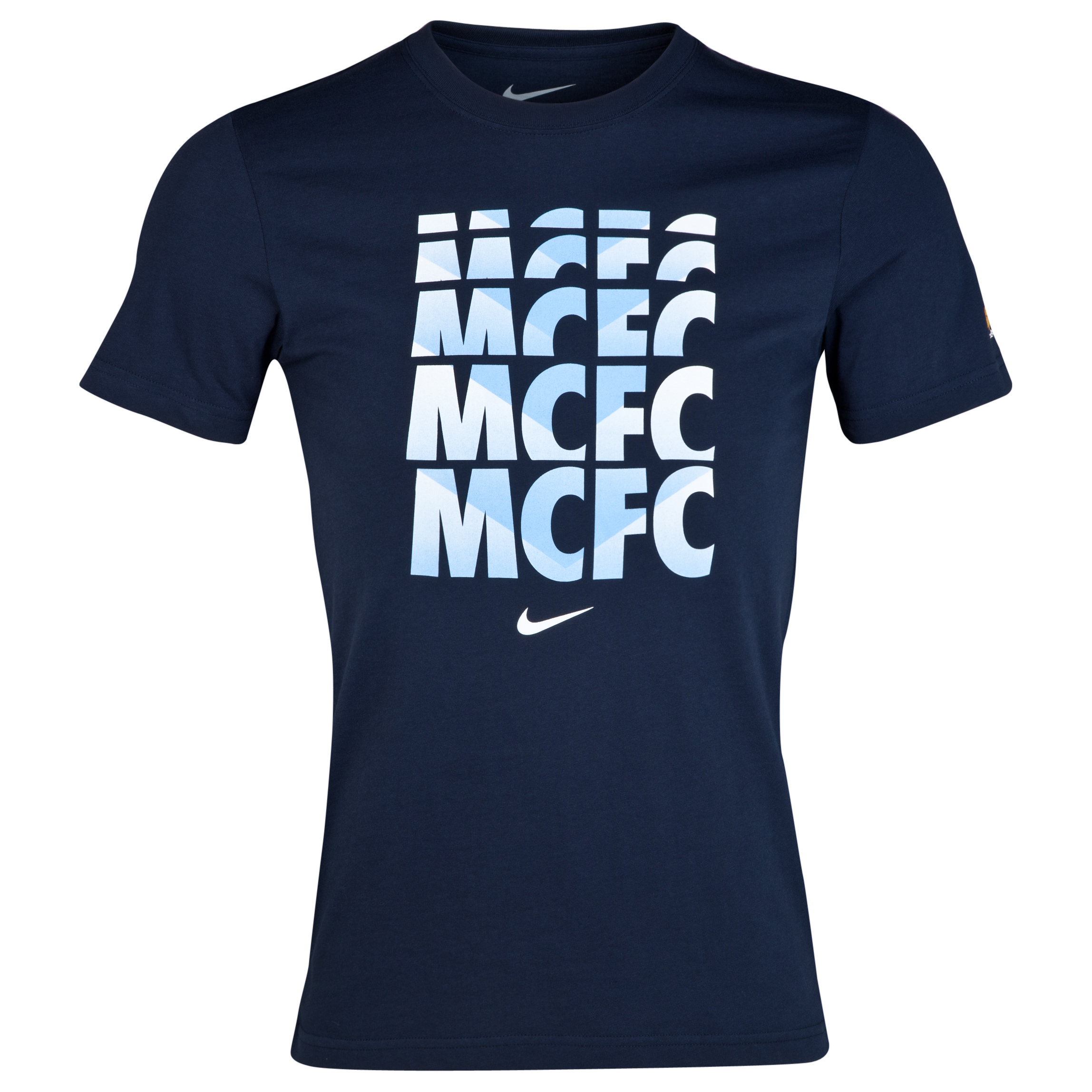 Manchester City Core Type T-Shirt Blue