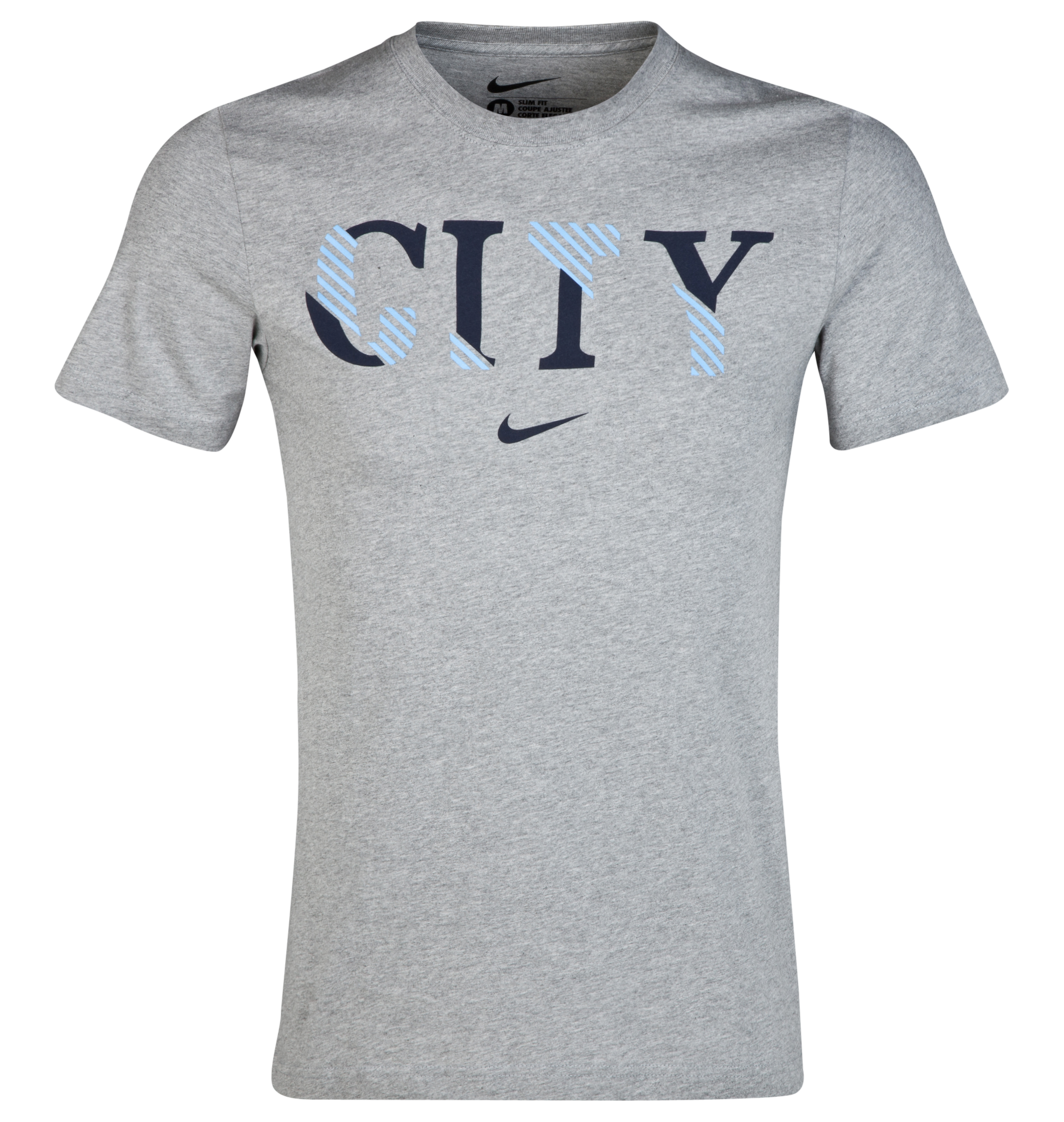Manchester City Core Plus T-Shirt Dk Grey