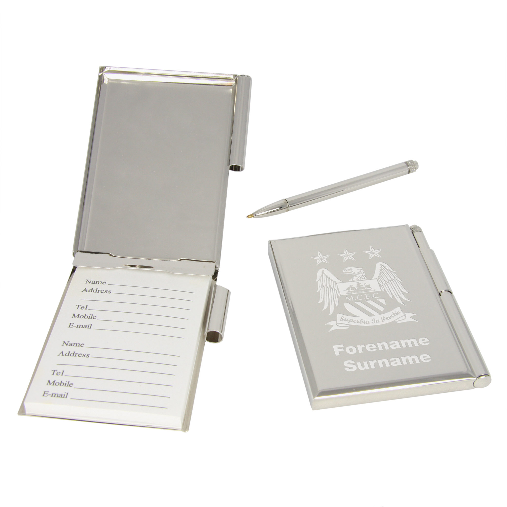 Manchester City Personalised Address Book