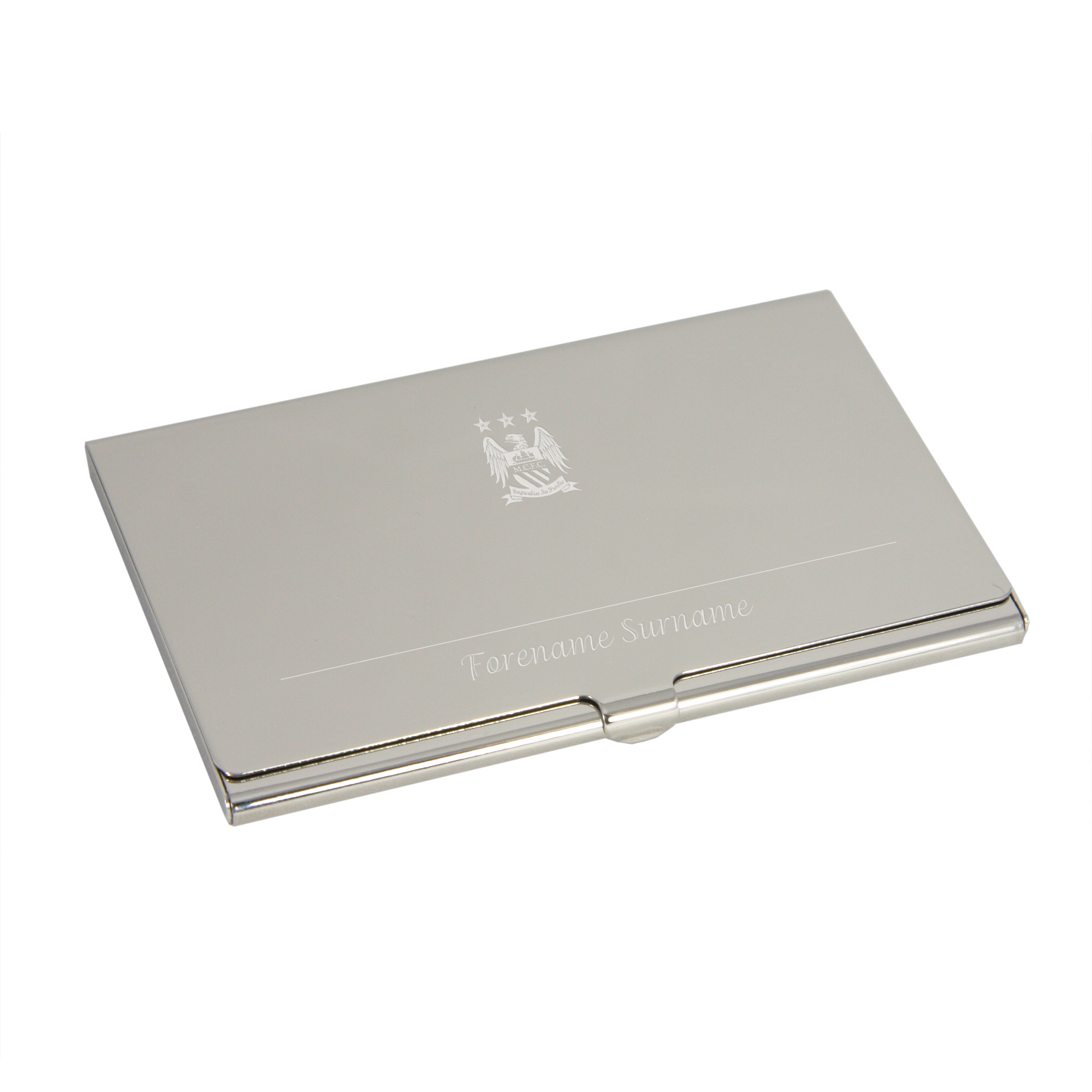 Manchester City Personalised Business Card Holder