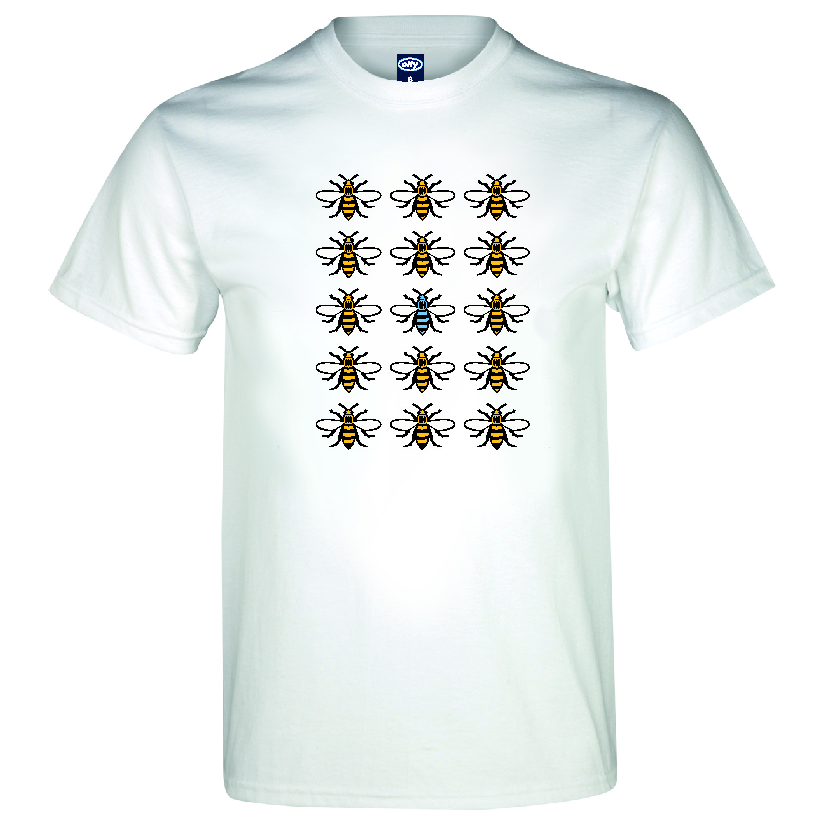 Manchester City 2for20 Bee T-Shirt - Mens - White