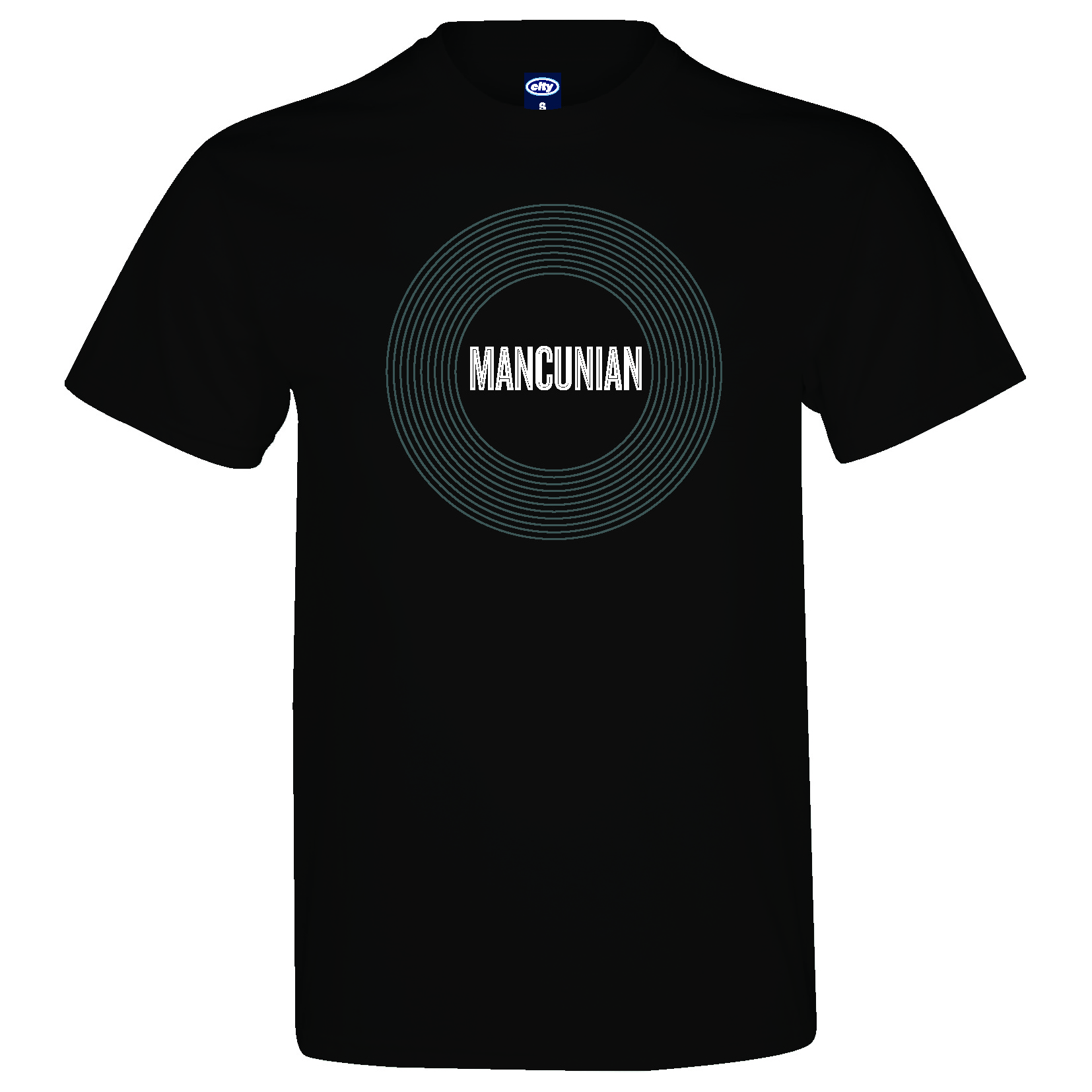 Manchester City 2for20 Mancunian T-Shirt - Mens - Black