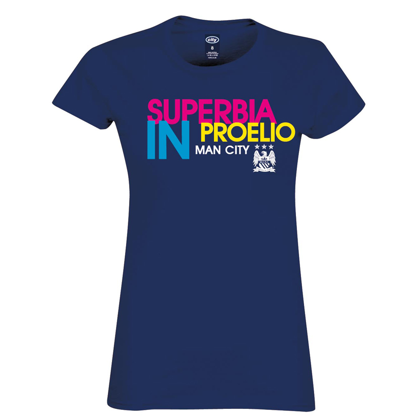Manchester City 2 For T Superbia T-Shirt- Womens Navy