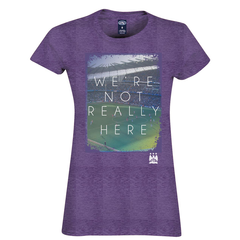 Manchester City 2 For T Not Really T-Shirt- Womens Purple