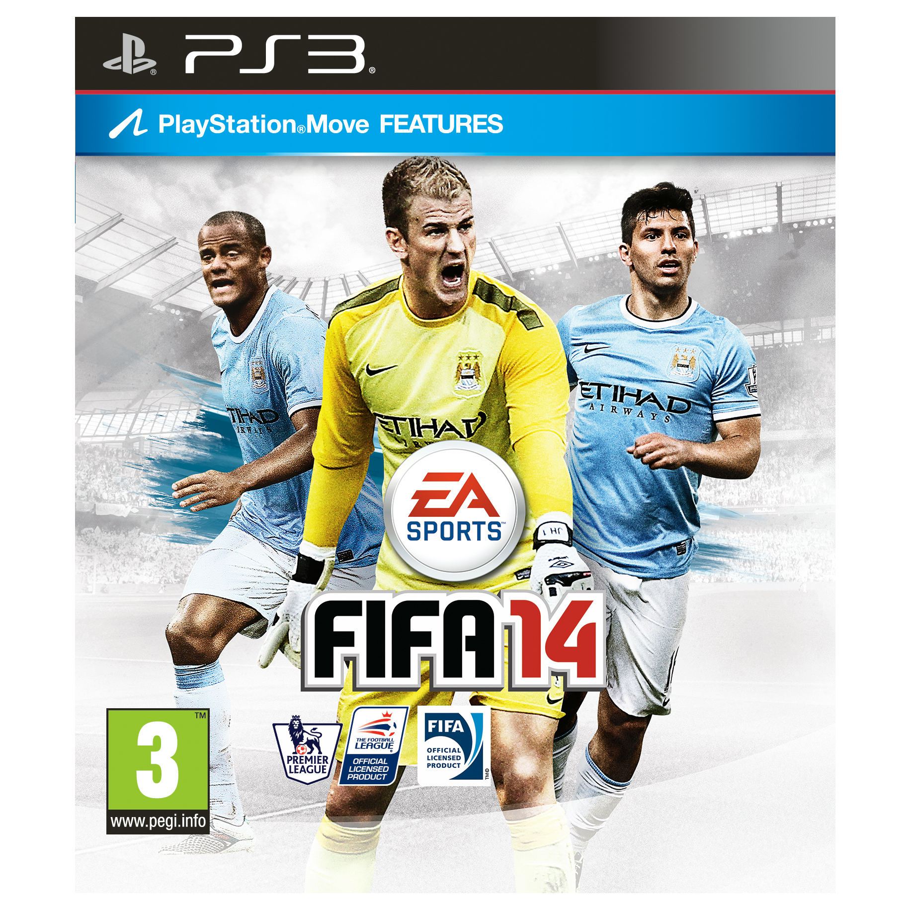 Manchester City Fifa 14 PS3 Game - MCFC Exclusive Cover