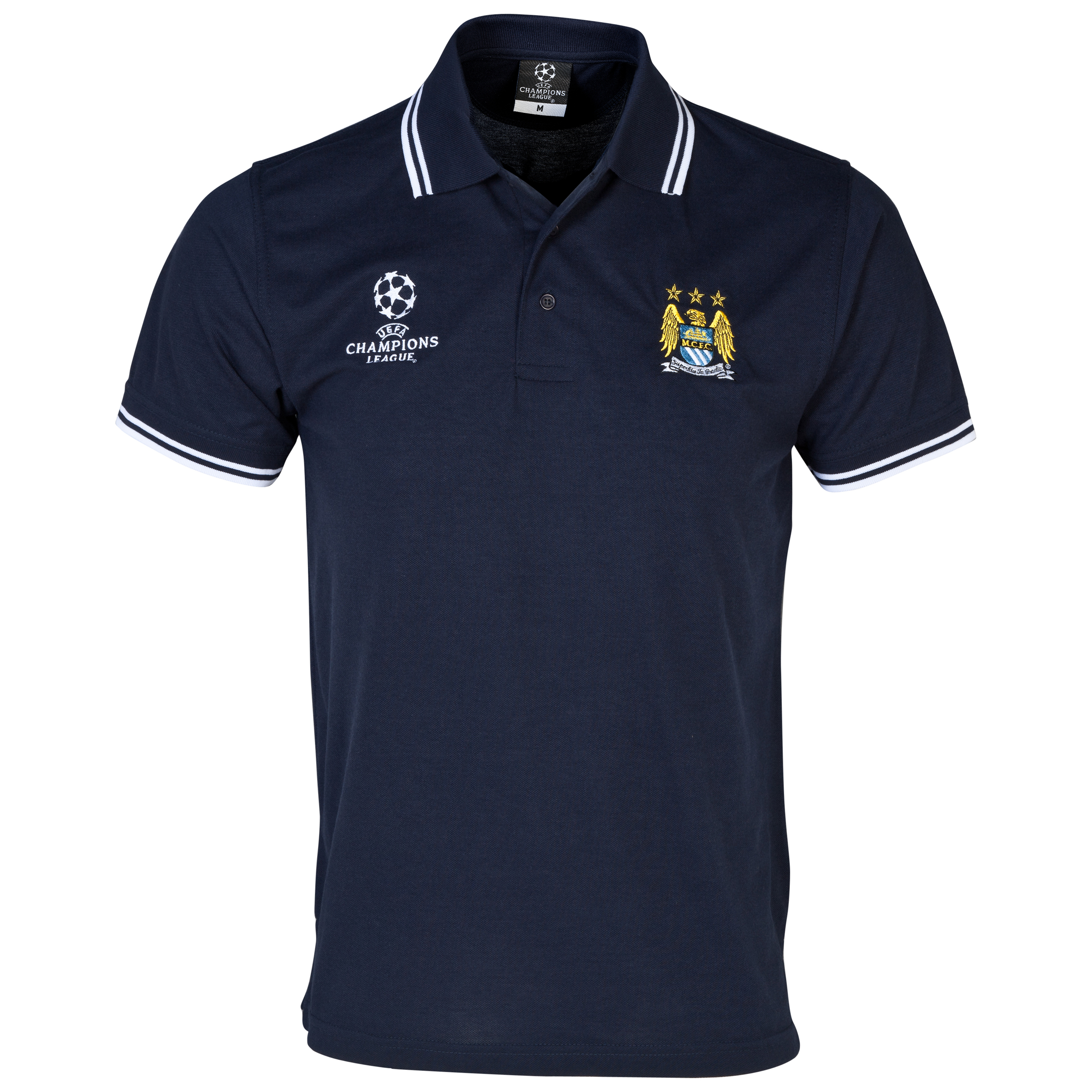 Manchester City UEFA Champions League Tipped Polo Navy