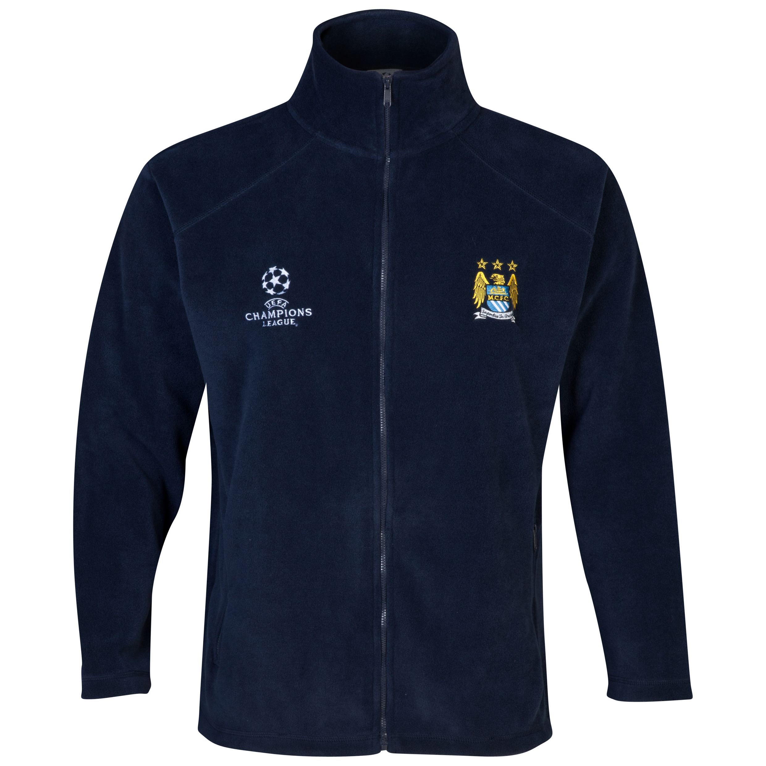Manchester City UEFA Champions League Fleece Jacket Navy
