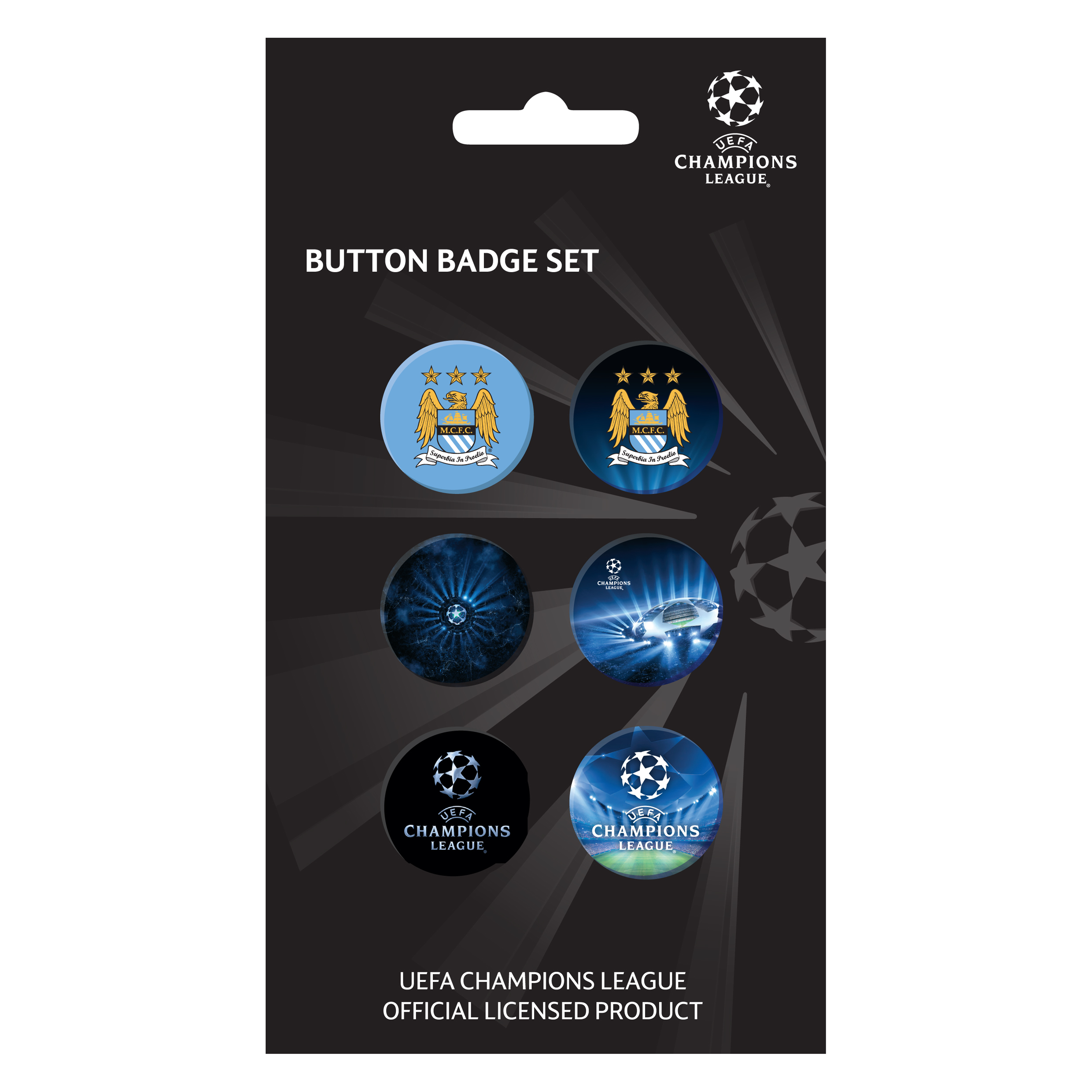 Manchester City Champions League Badge Set