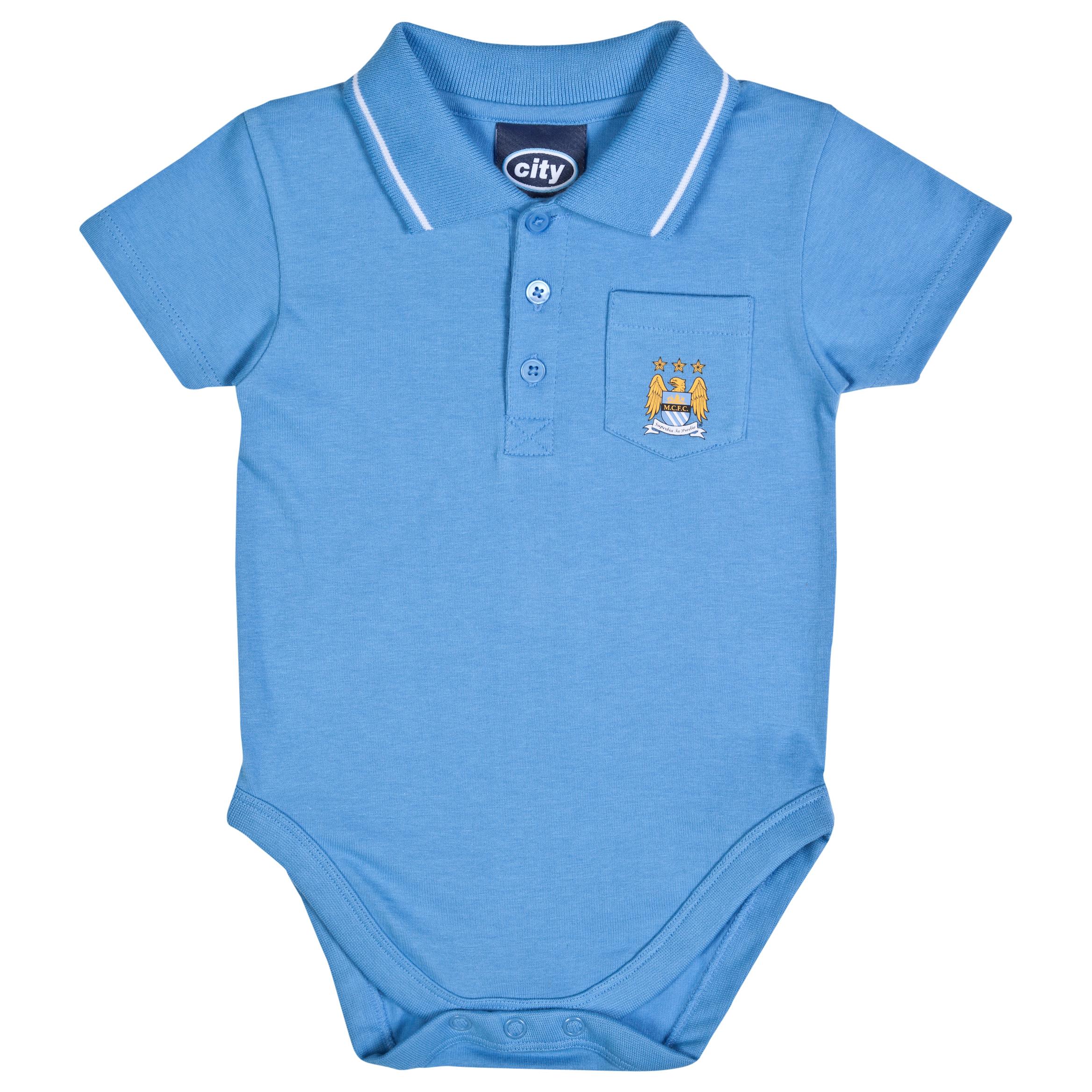 Manchester City Marcus Bodysuit-Baby Lt Blue