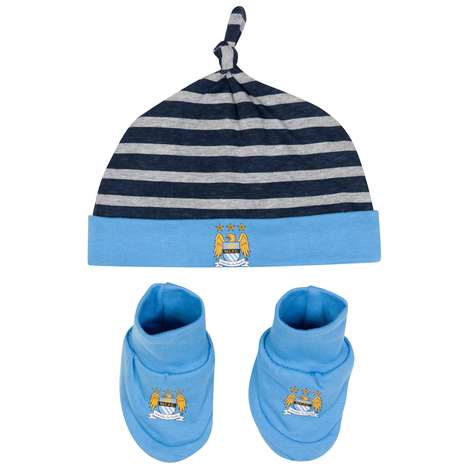 Manchester City Hatrick Hat and Bootie-Baby Lt Blue