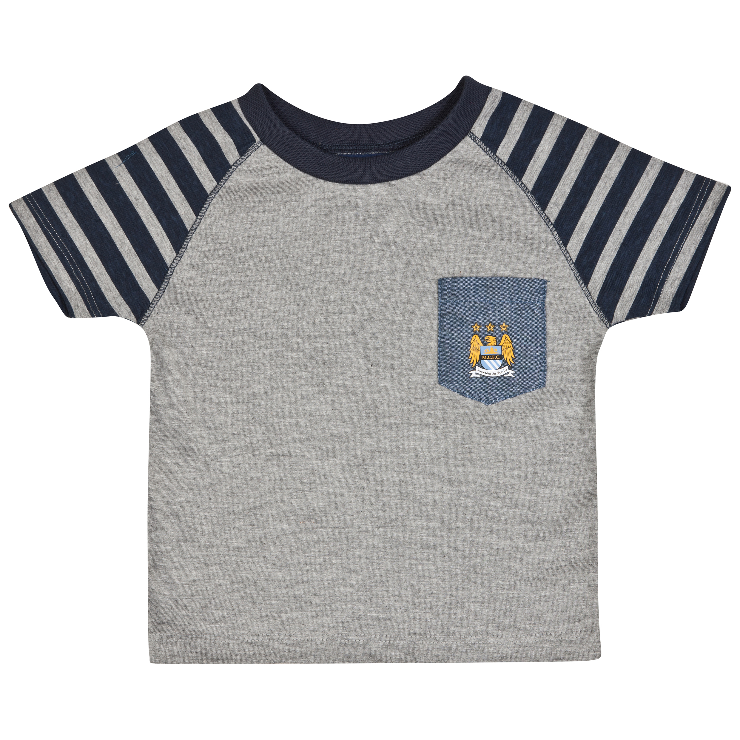Manchester City Tricks T-Shirt-Baby Lt Grey