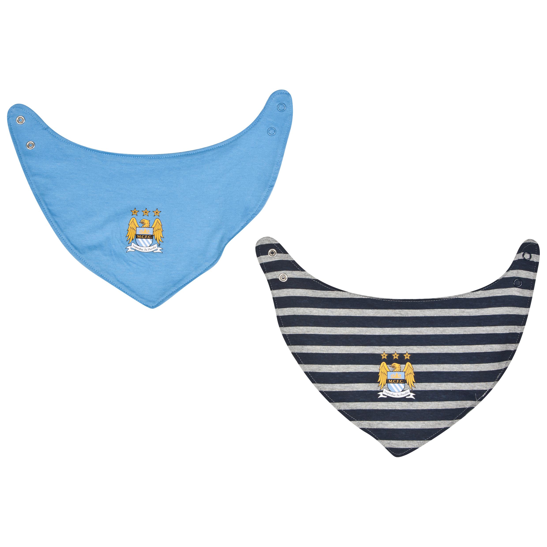 Manchester City Dribble Bibs 2PK-Baby Lt Blue